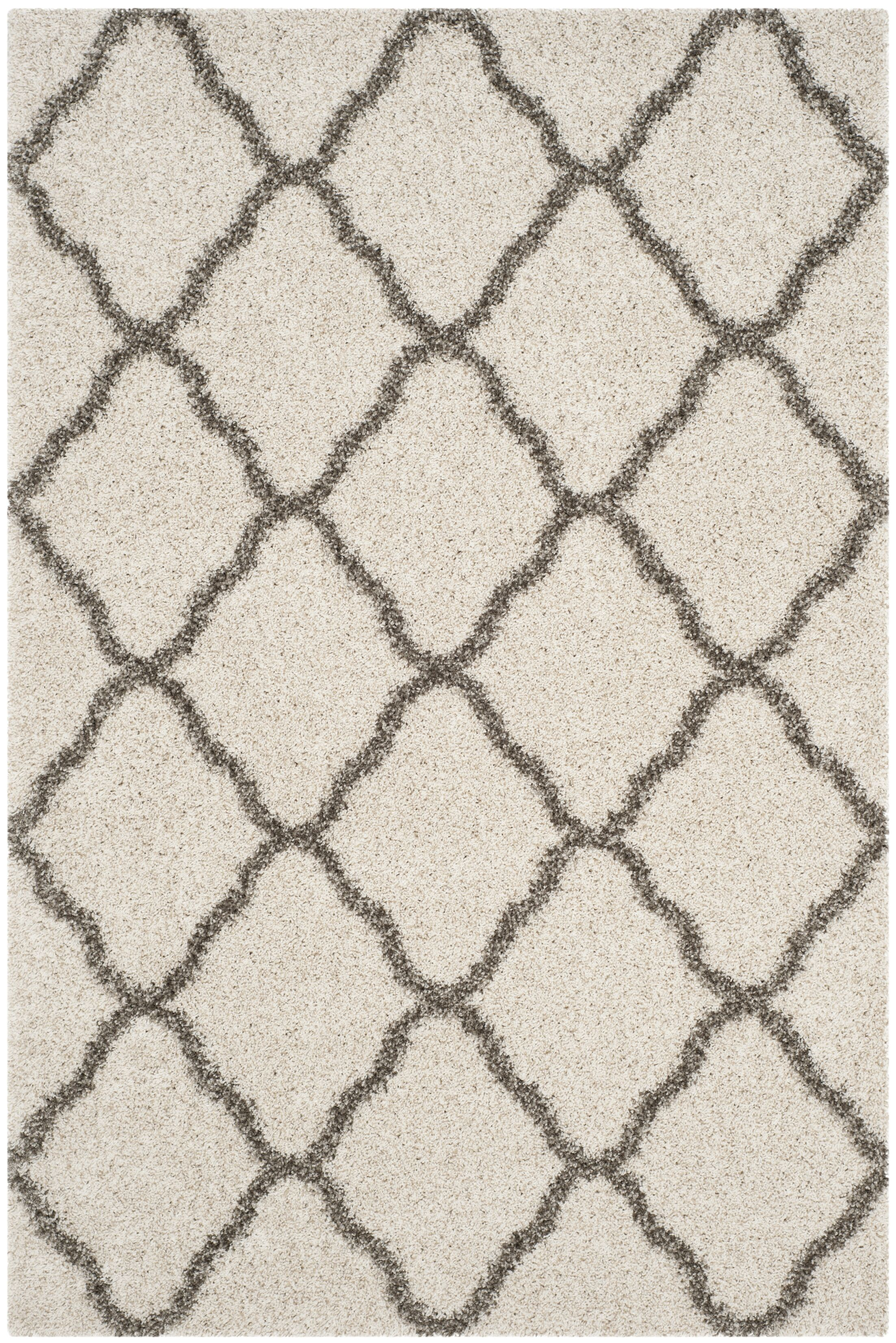 Buford Ivory/Gray Area Rug Rug Size: Rectangle 4' x 6'