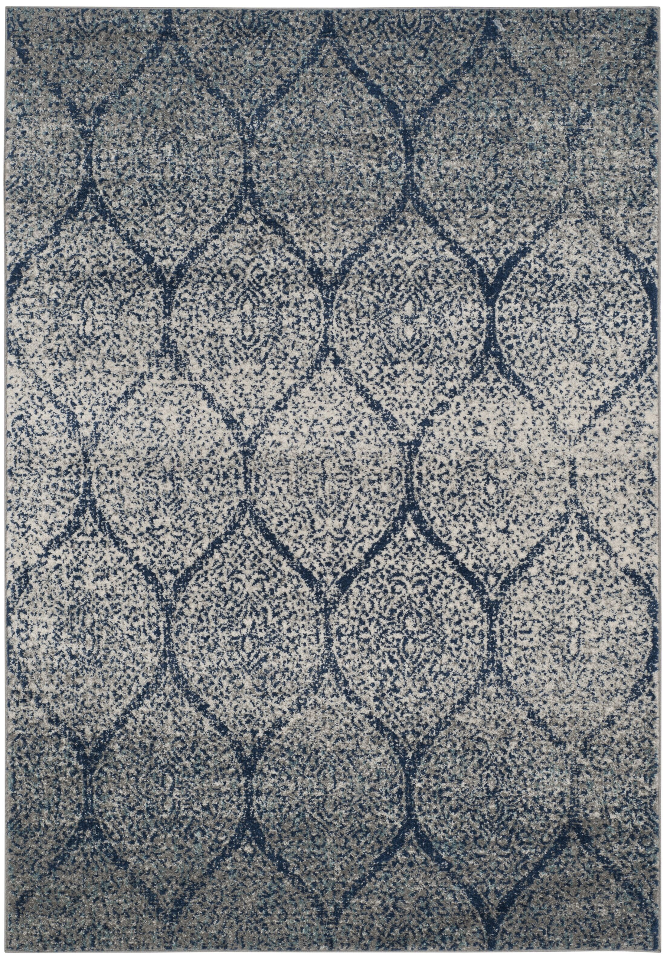 Grieve Blue/Gray Area Rug Rug Size: Rectangle 5'1