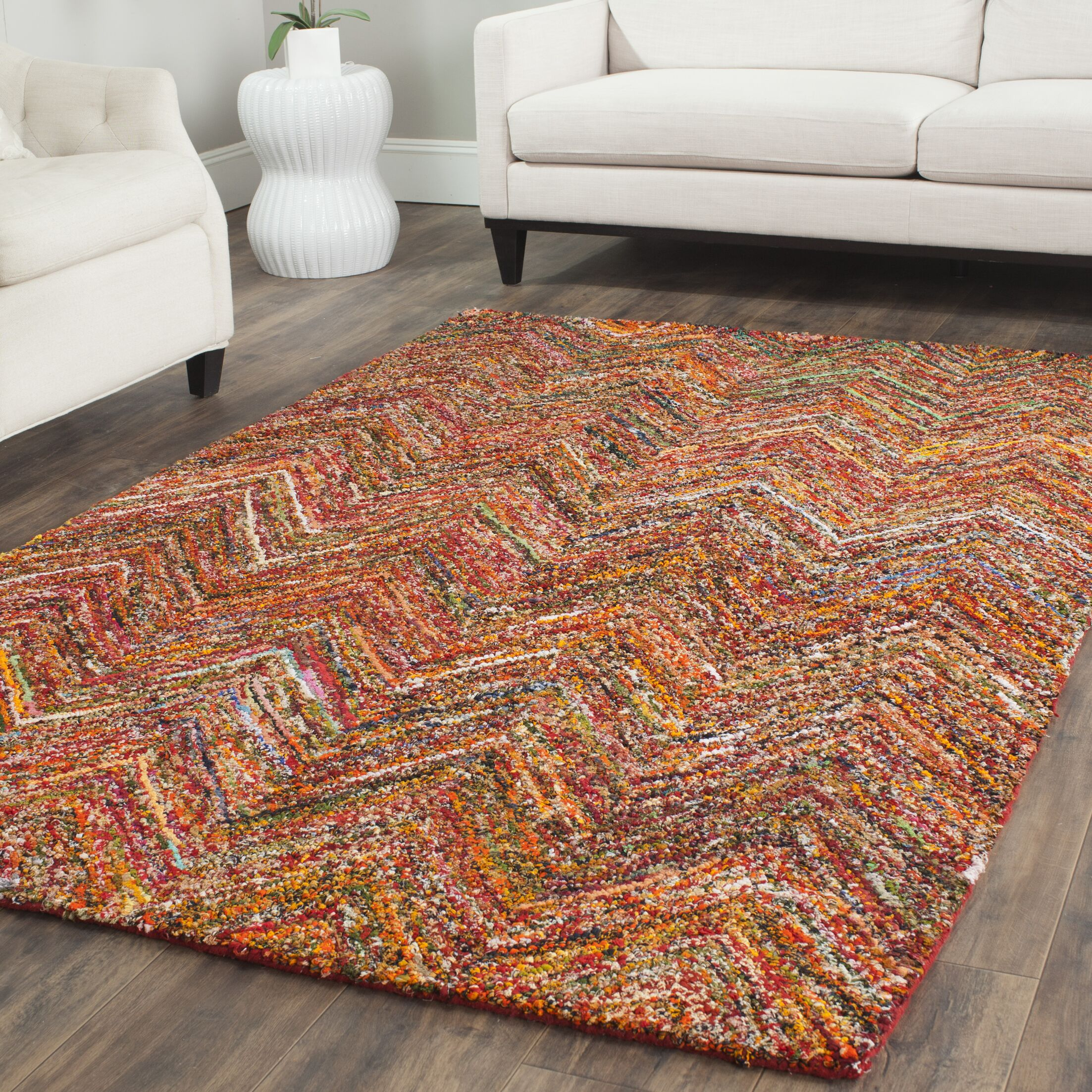 Sergio Hand-Tufted Multi Area Rug Rug Size: Rectangle 5' x 8'