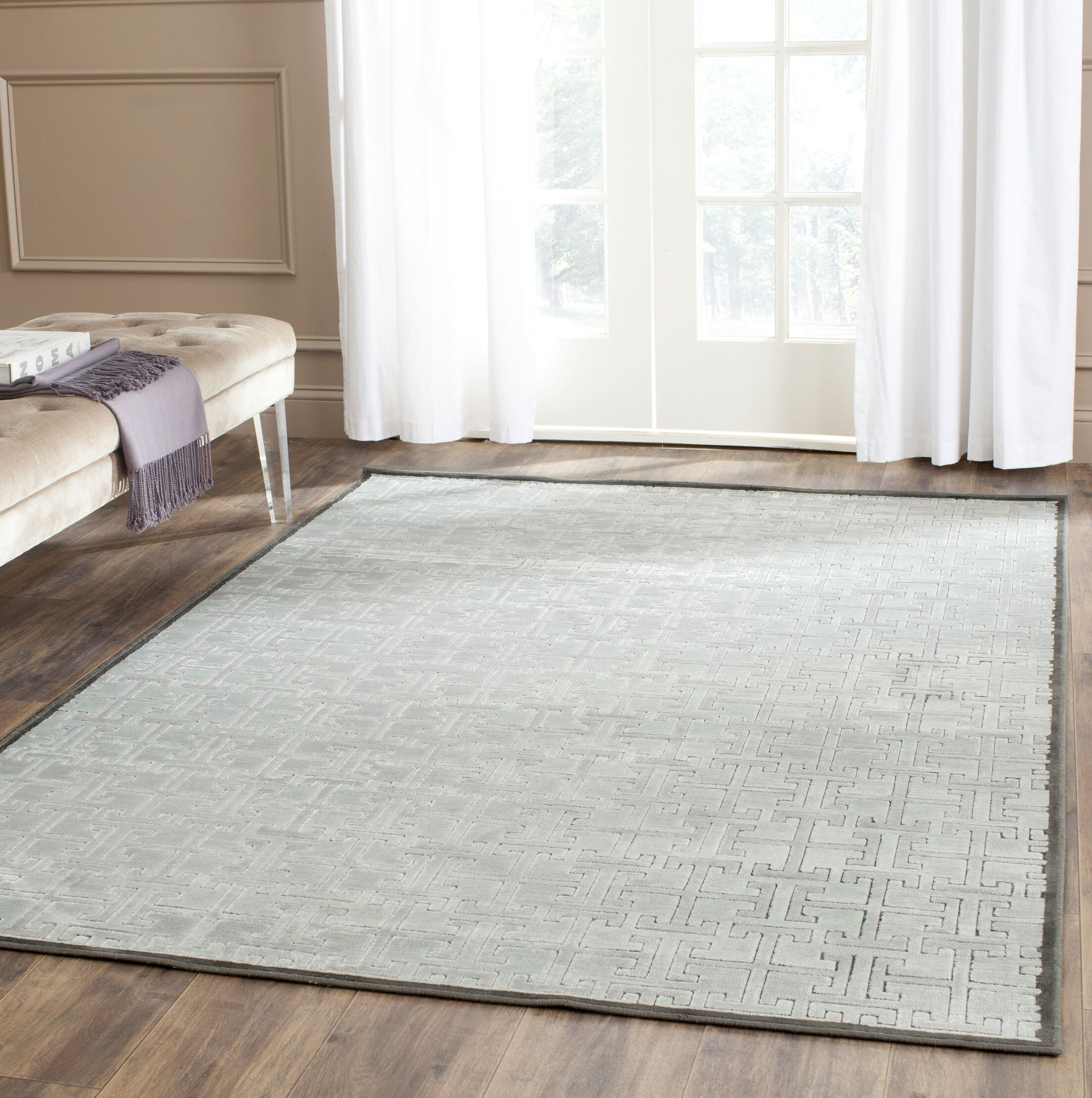 Red Hook Charcoal/Gray Area Rug Rug Size: Rectangle 5'3