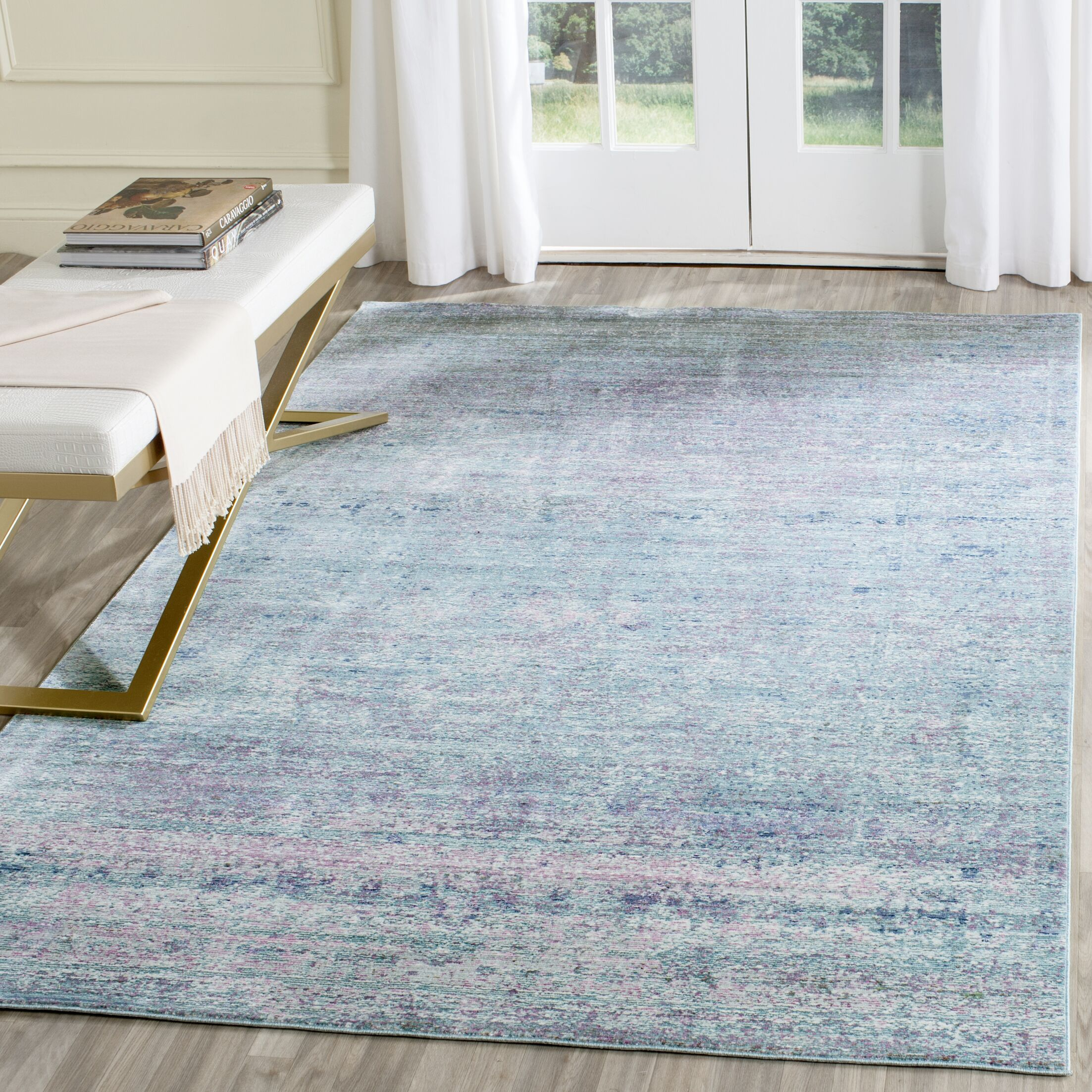 Mulhall Purple/Blue Area Rug Rug Size: Rectangle 4' x 6'