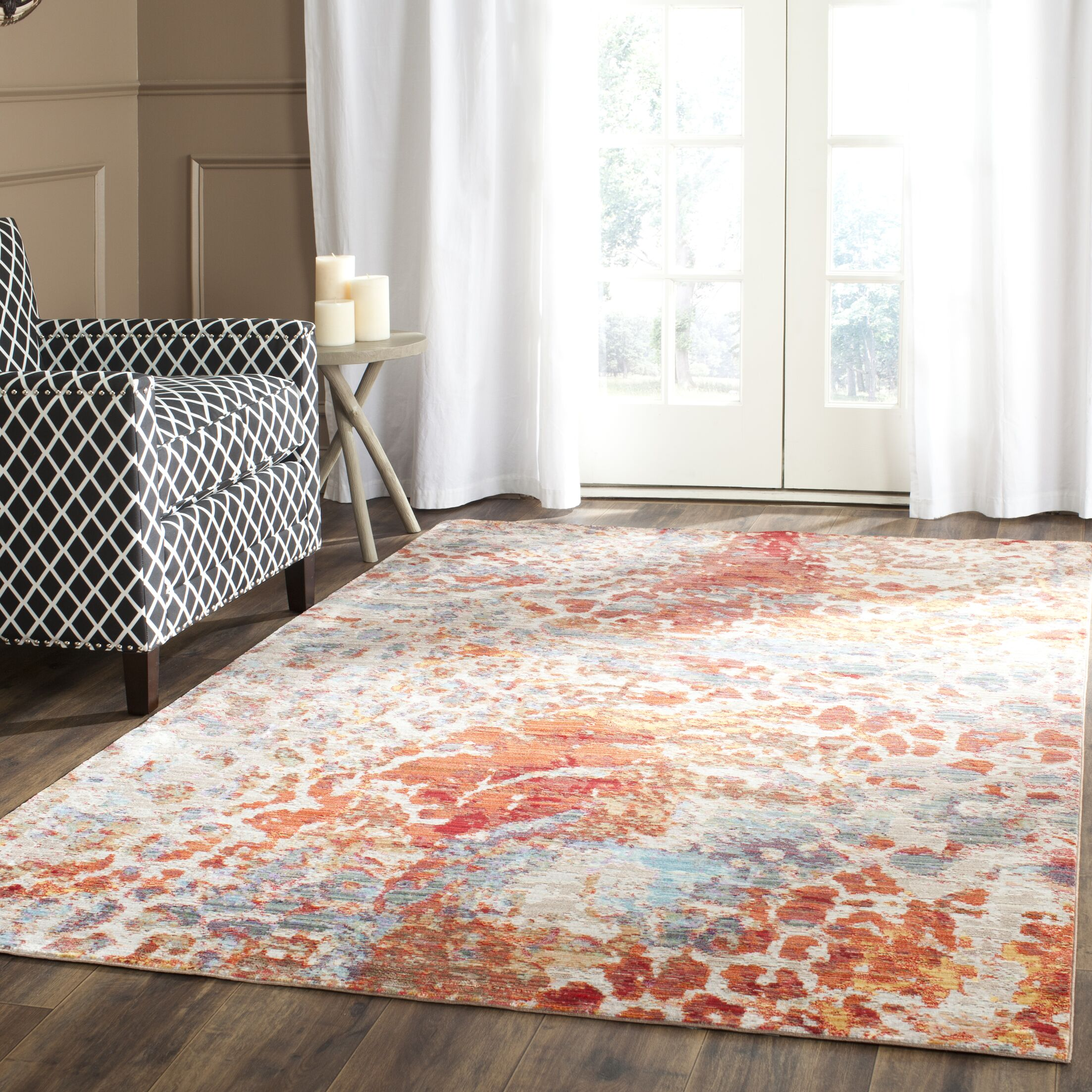 Abdoulaye Brown/Blue Area Rug Rug Size: Rectangle 5' x 8'