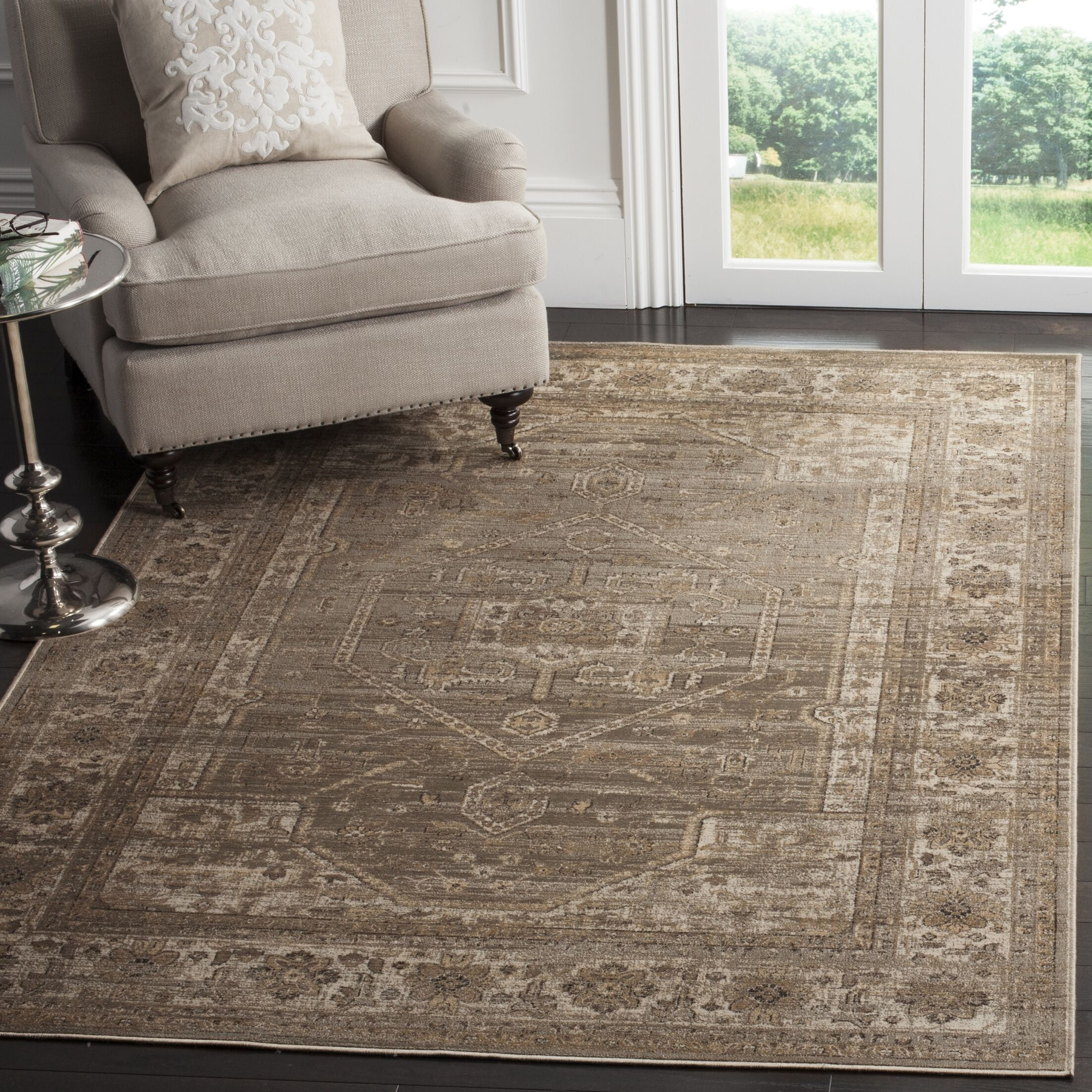 Ercole Mouse Wool Area Rug Rug Size: Rectangle 6'7