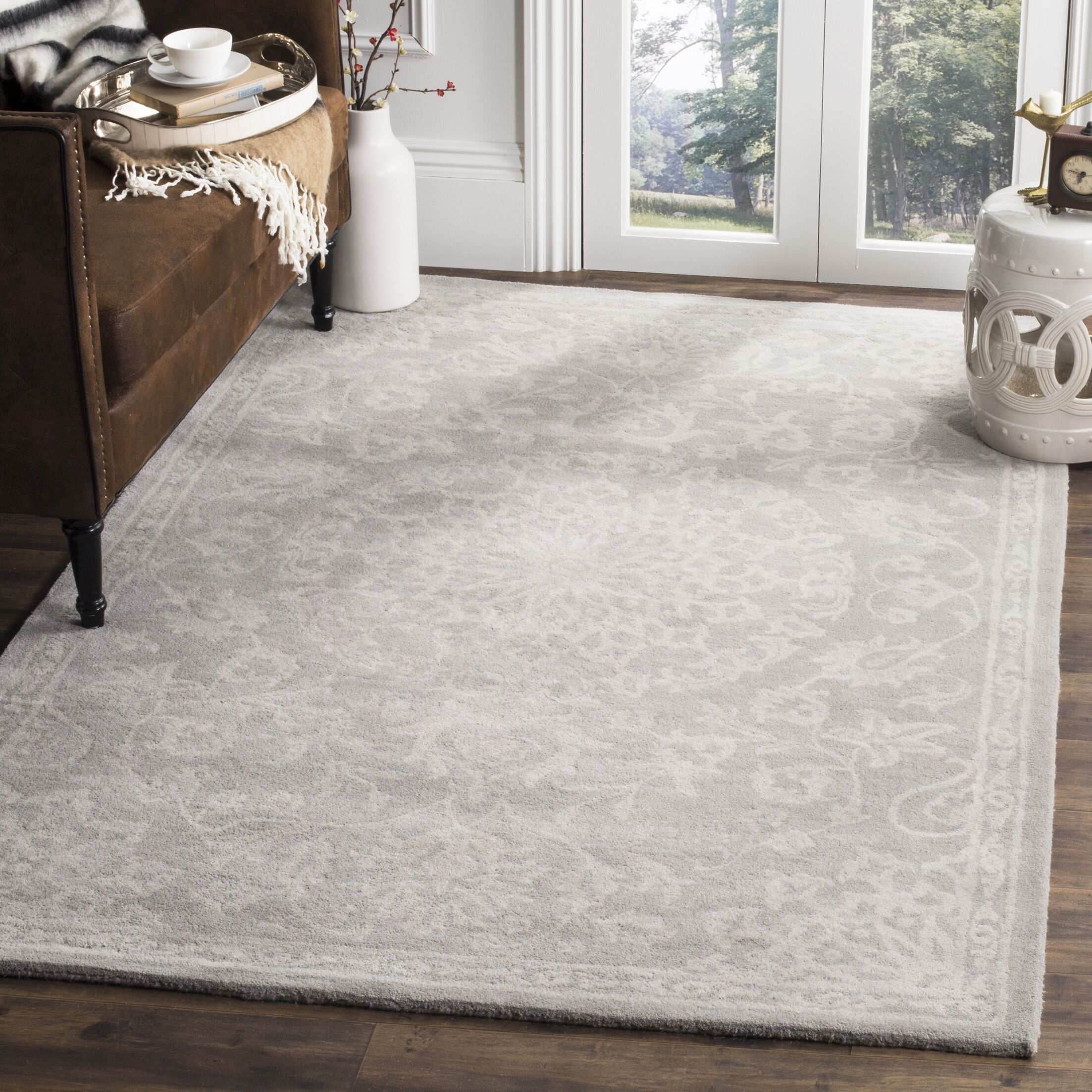 Wool Gray/Silver Area Rug Rug Size: Rectangle 6' x 9'