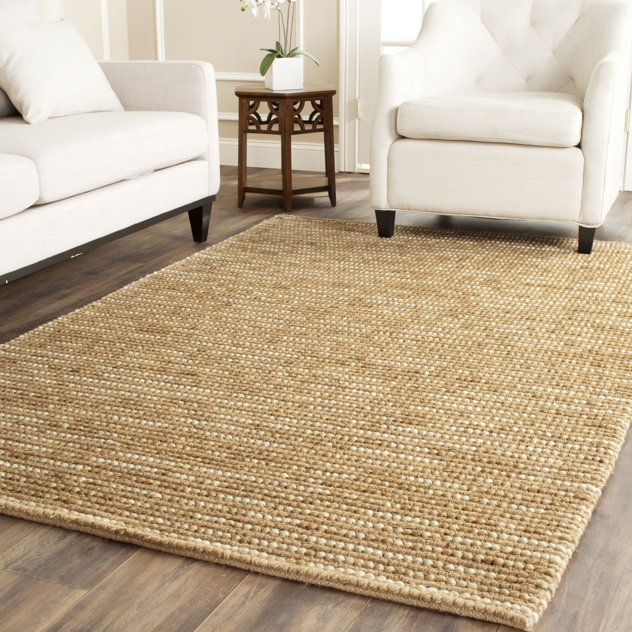 Makhi Flat Woven Beige Area Rug Rug Size: Rectangle 4' x 6'