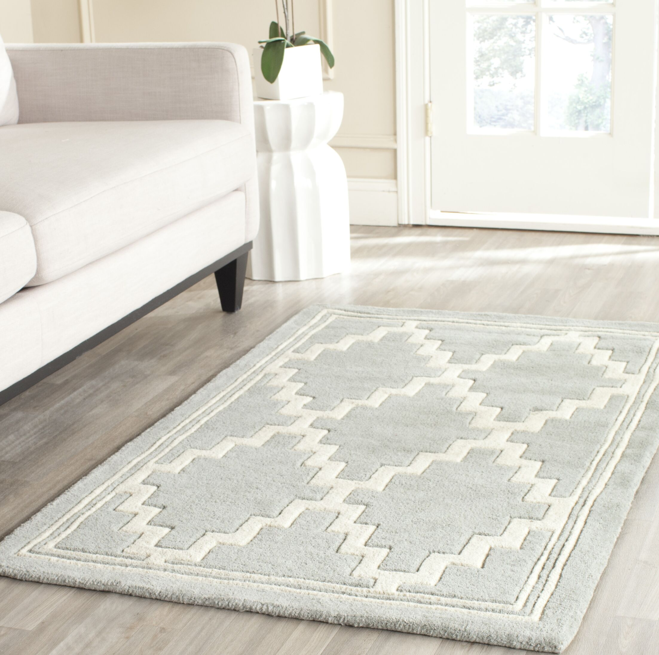 Wilkin Hand-Tufted Wool Gray Rug Rug Size: Rectangle 4' x 6'