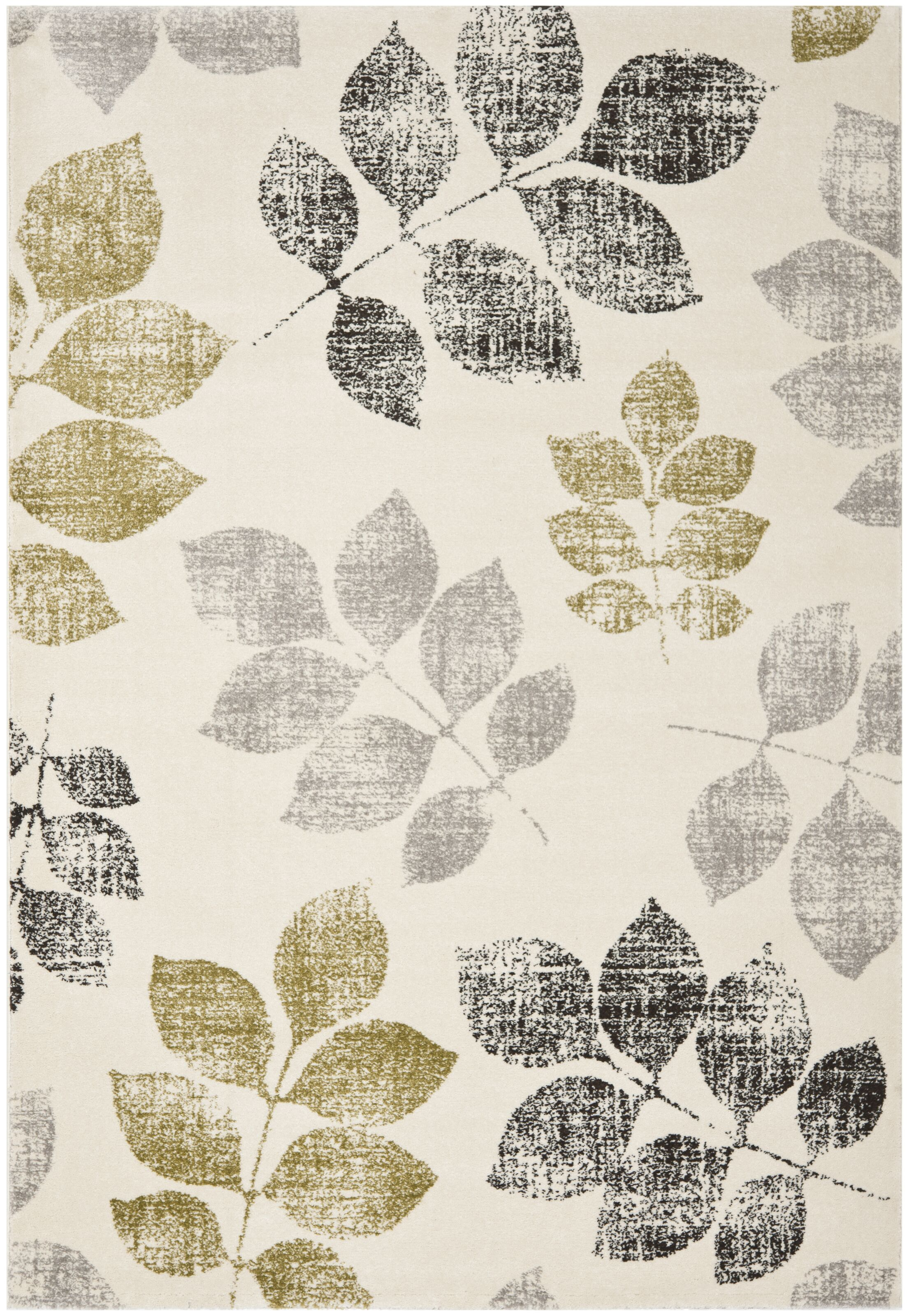 Rosario Ivory/Green Area Rug Rug Size: Rectangle 8' x 11'2