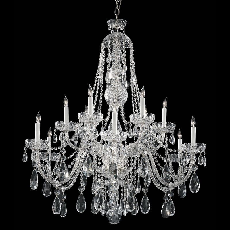 Rashad 12-Light Crystal Chandelier Finish: Polished Chrome, Crystal Grade: Spectra