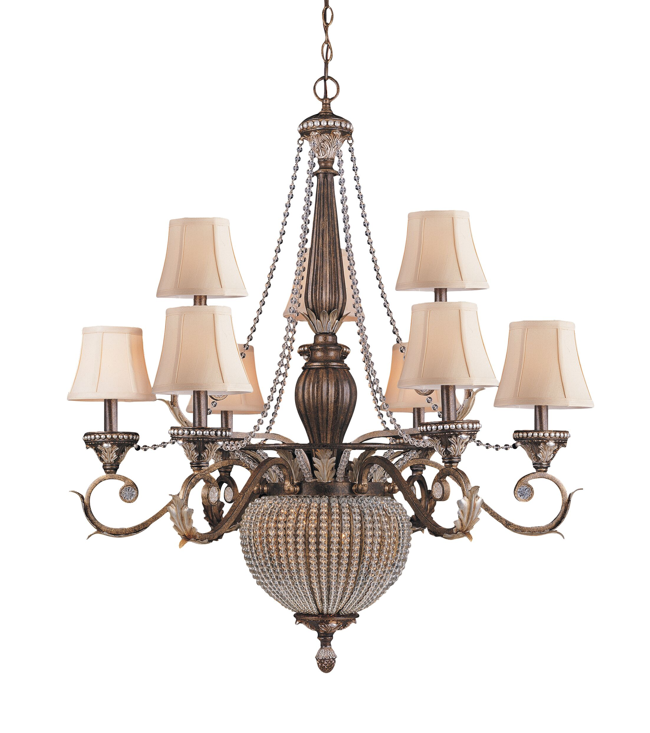 Moody 11-Light Shaded Chandelier