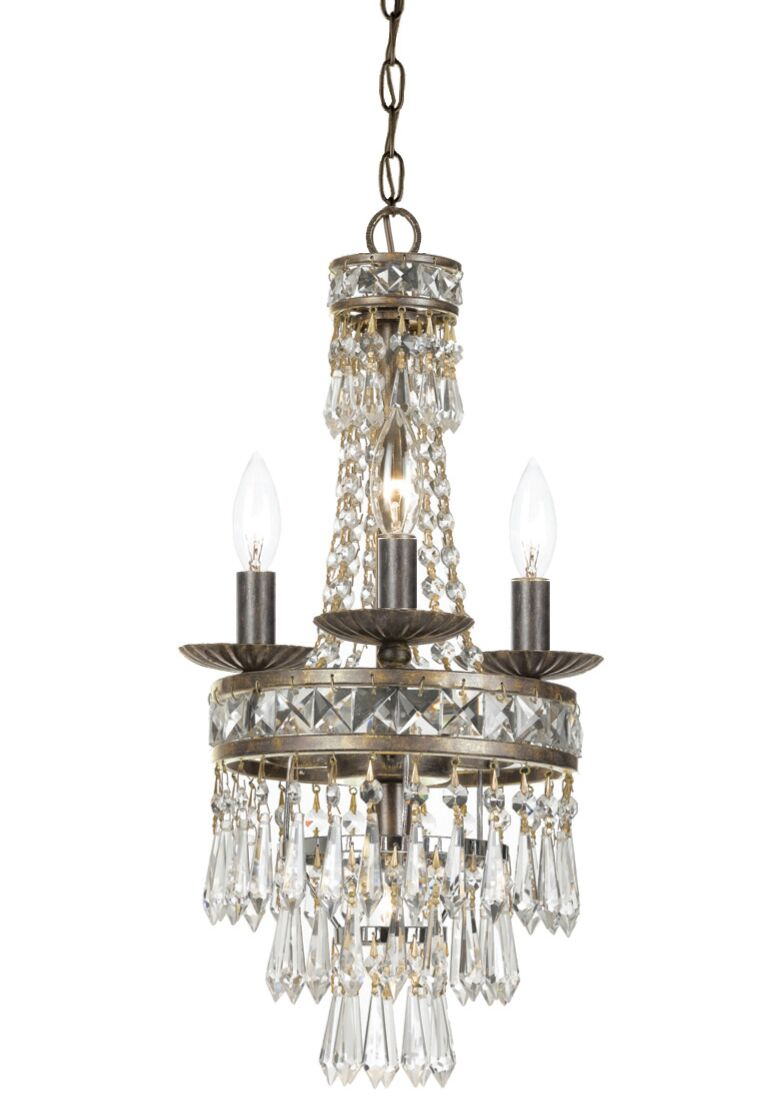 Markenfield 4-Light Crystal Chandelier Finish: English Bronze