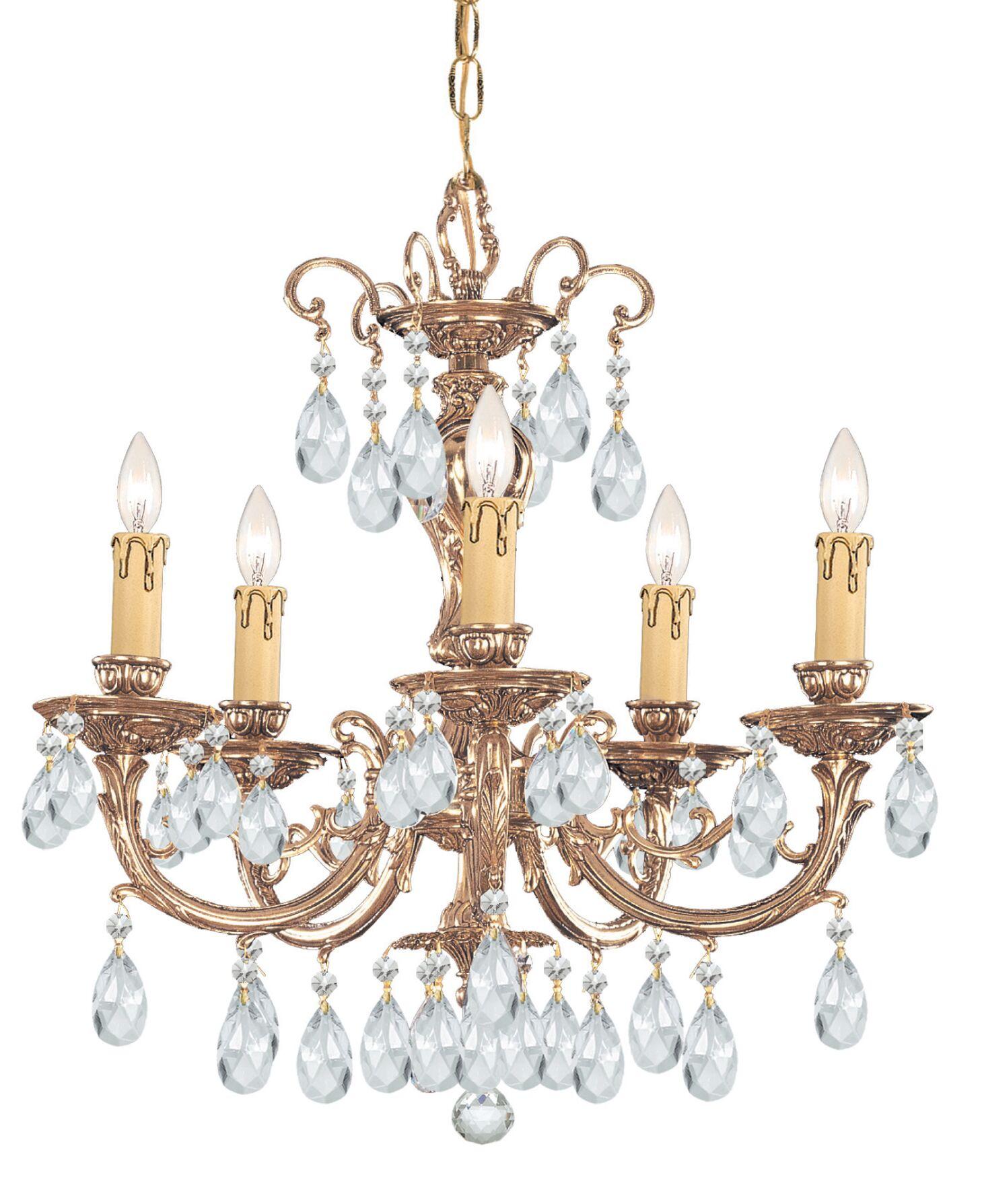 Aureolin 5-Light Crystal Chandelier Crystal: Swarovski Spectra