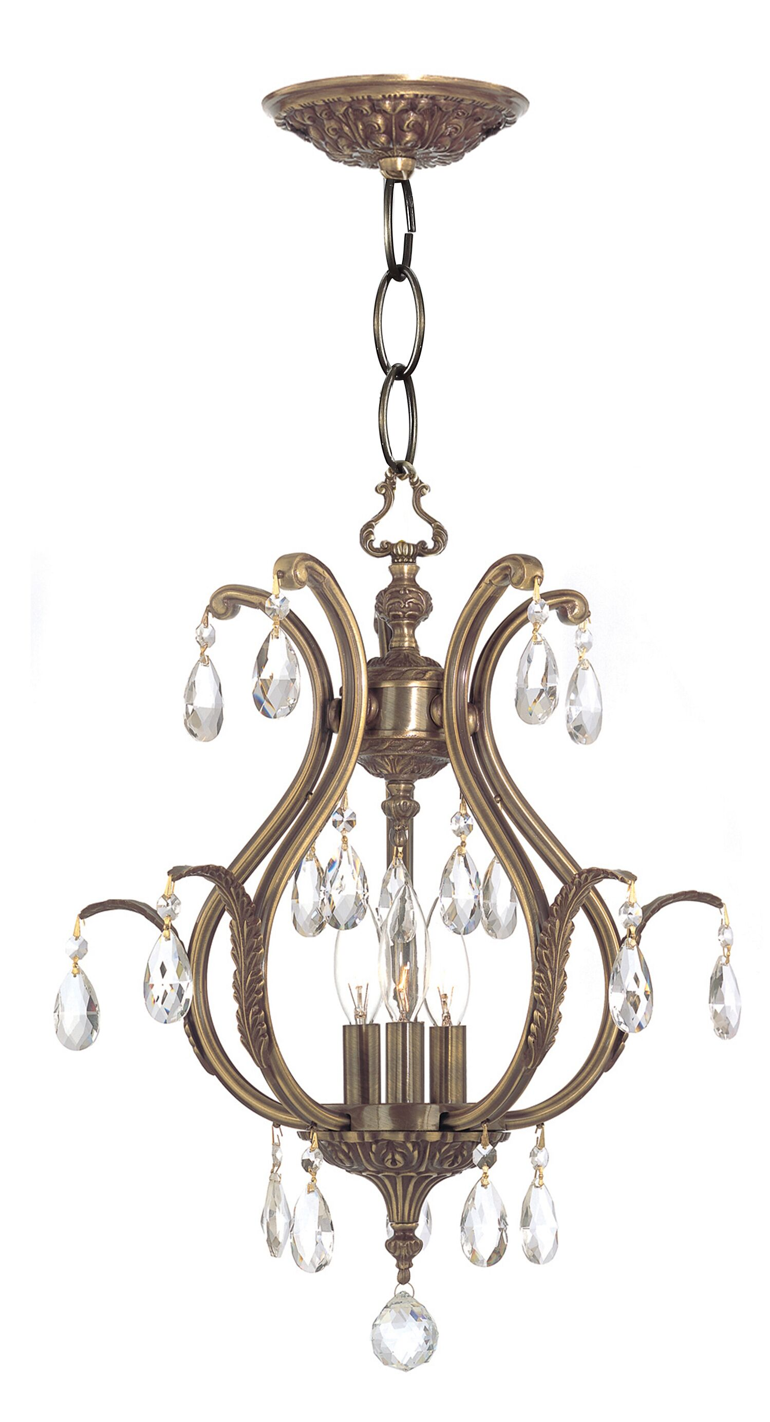 Dawson 3-Light Foyer Pendant Crystal: Swarovski Elements, Finish: Pewter
