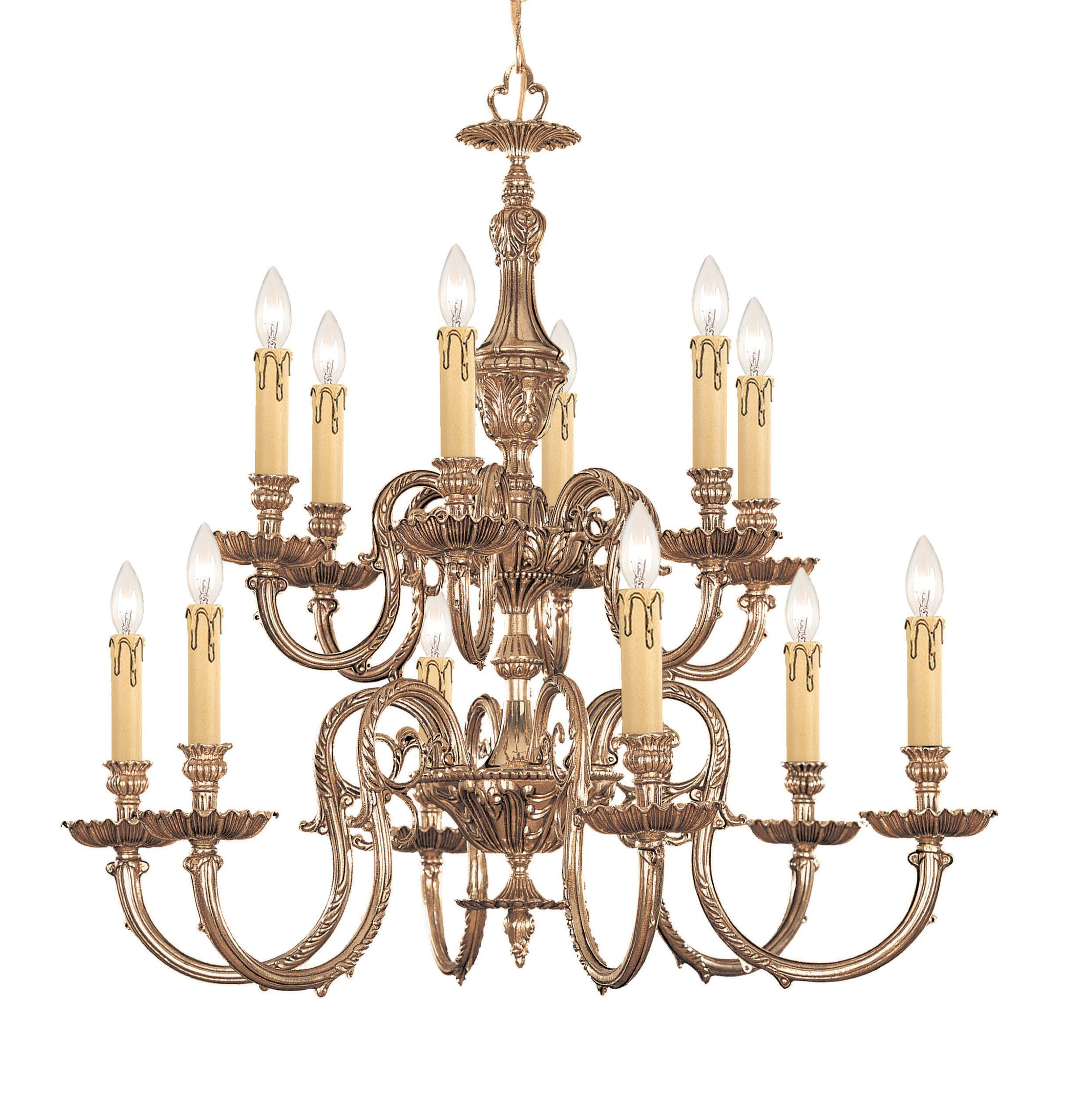 Aureolin 12-Light Candle-Style Chandelier