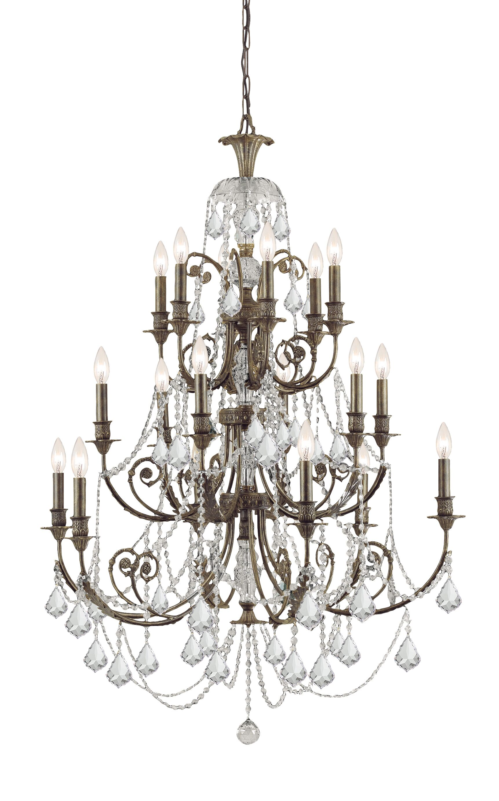 Suniga 18 Light Crystal Candle Chandelier Crystal Type: Clear Majestic Wood Polished