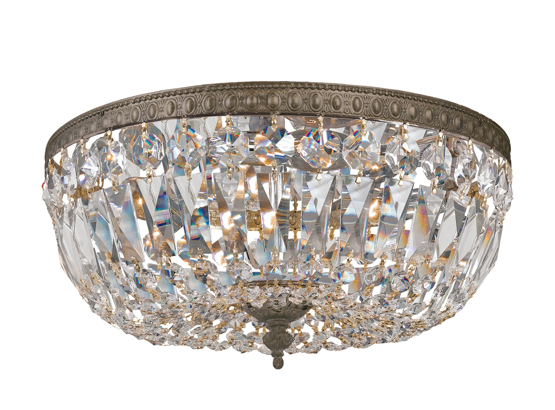 Brand 3-Light Flush Mount Crystal Grade: Swarovski Spectra