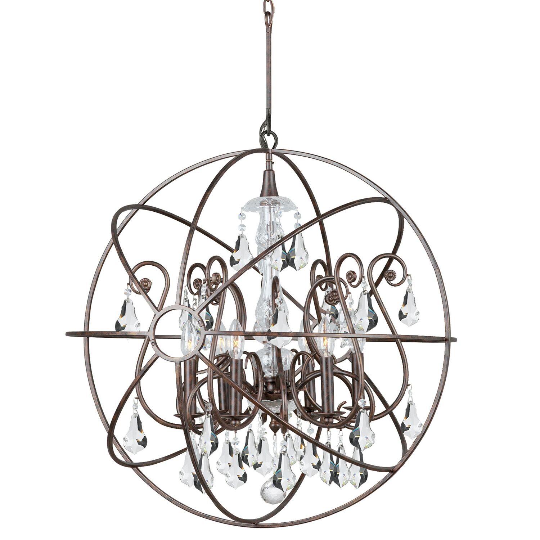 Charleston 6-Light Globe Chandelier Finish: Bronze
