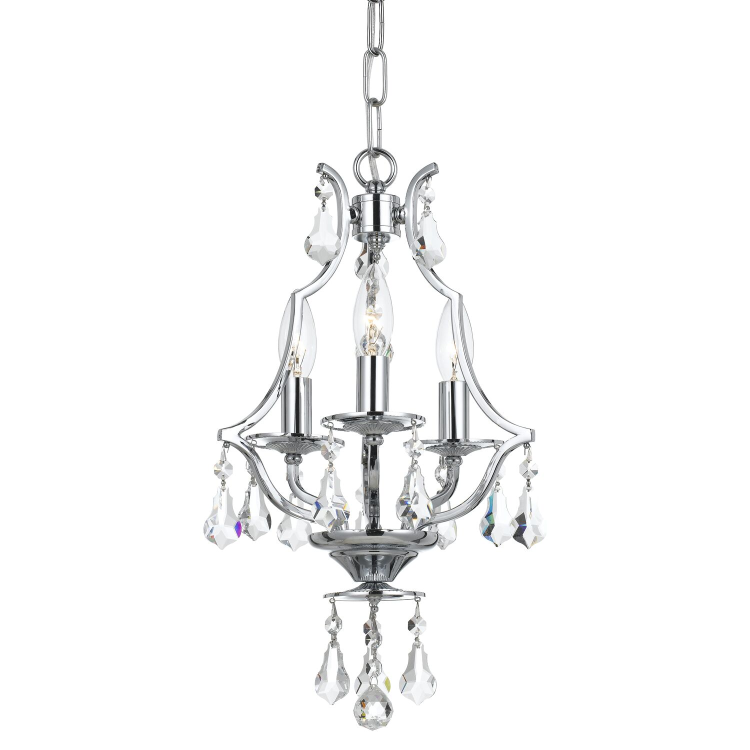 Sanford Swarovski Strass 3-Light Candle Style Chandelier