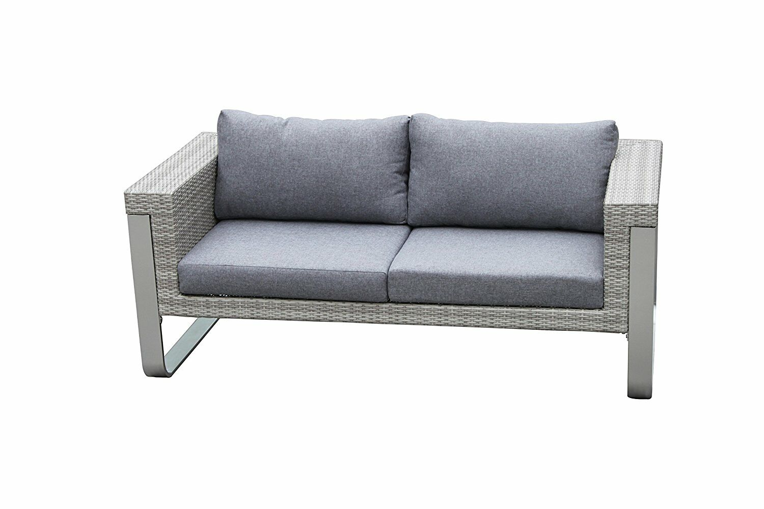 Regalado Modern Contemporary Outdoor Loveseat with Cushions