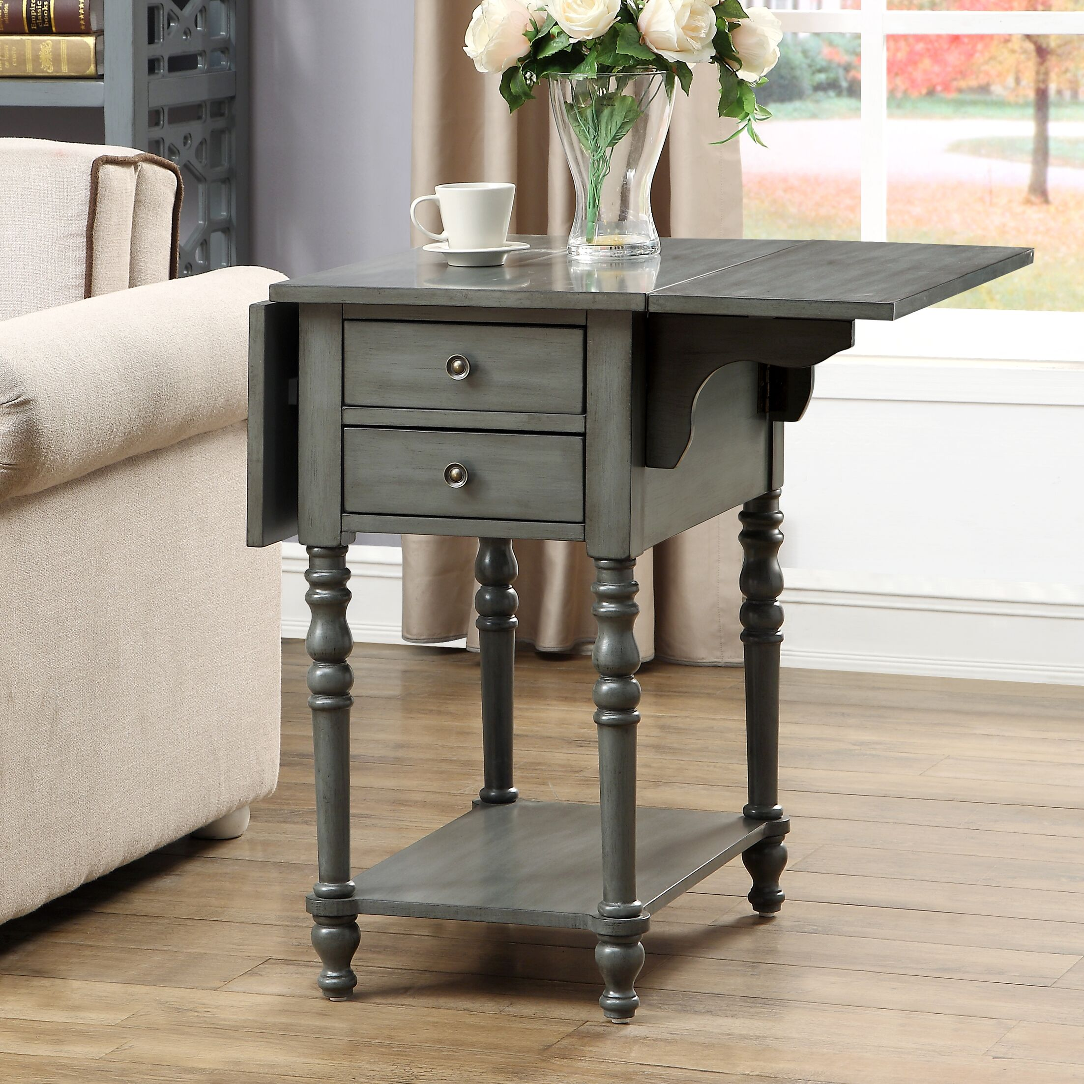 Jaune End Table Color: Gray