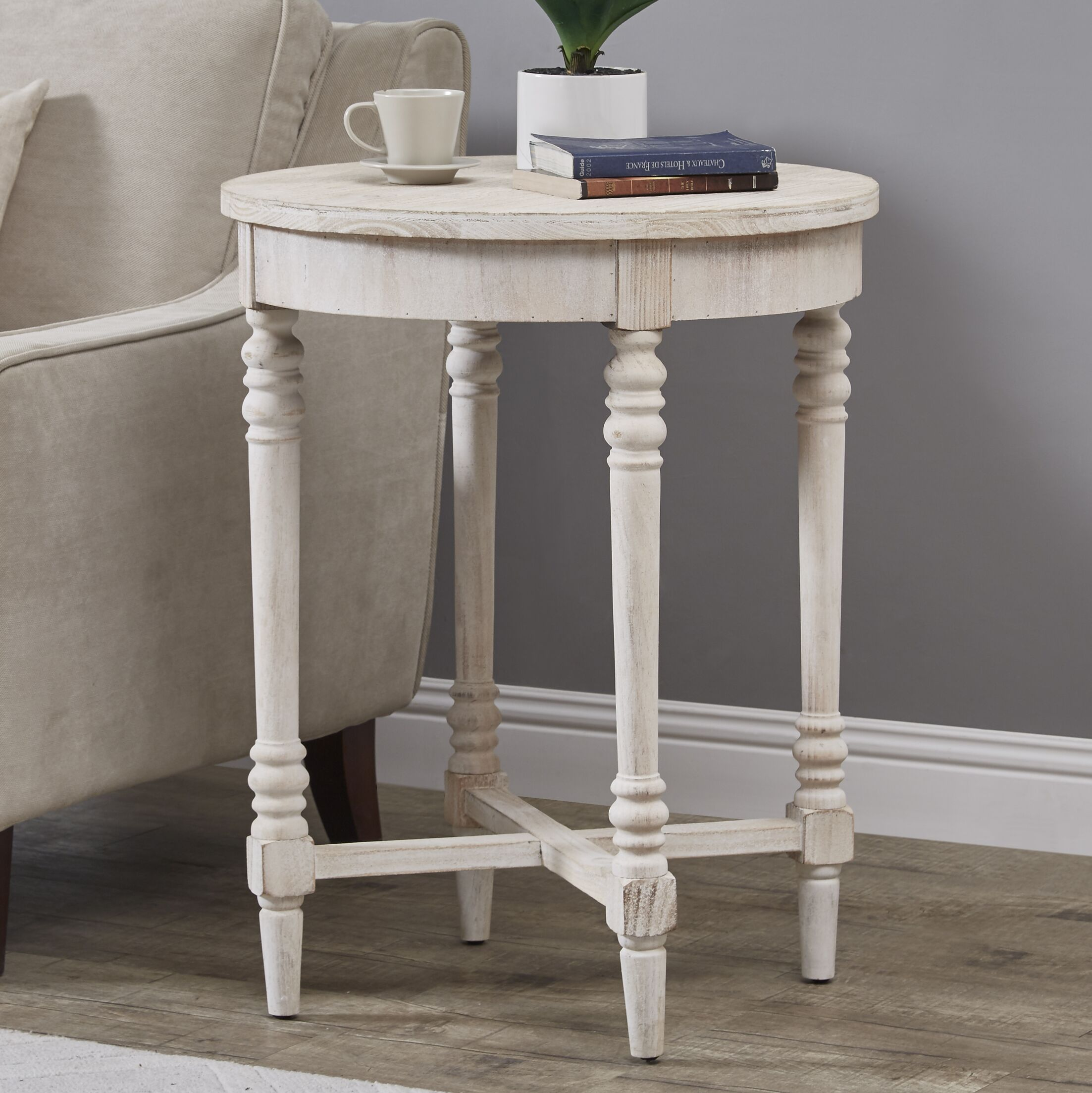Katalina End Table Color: White