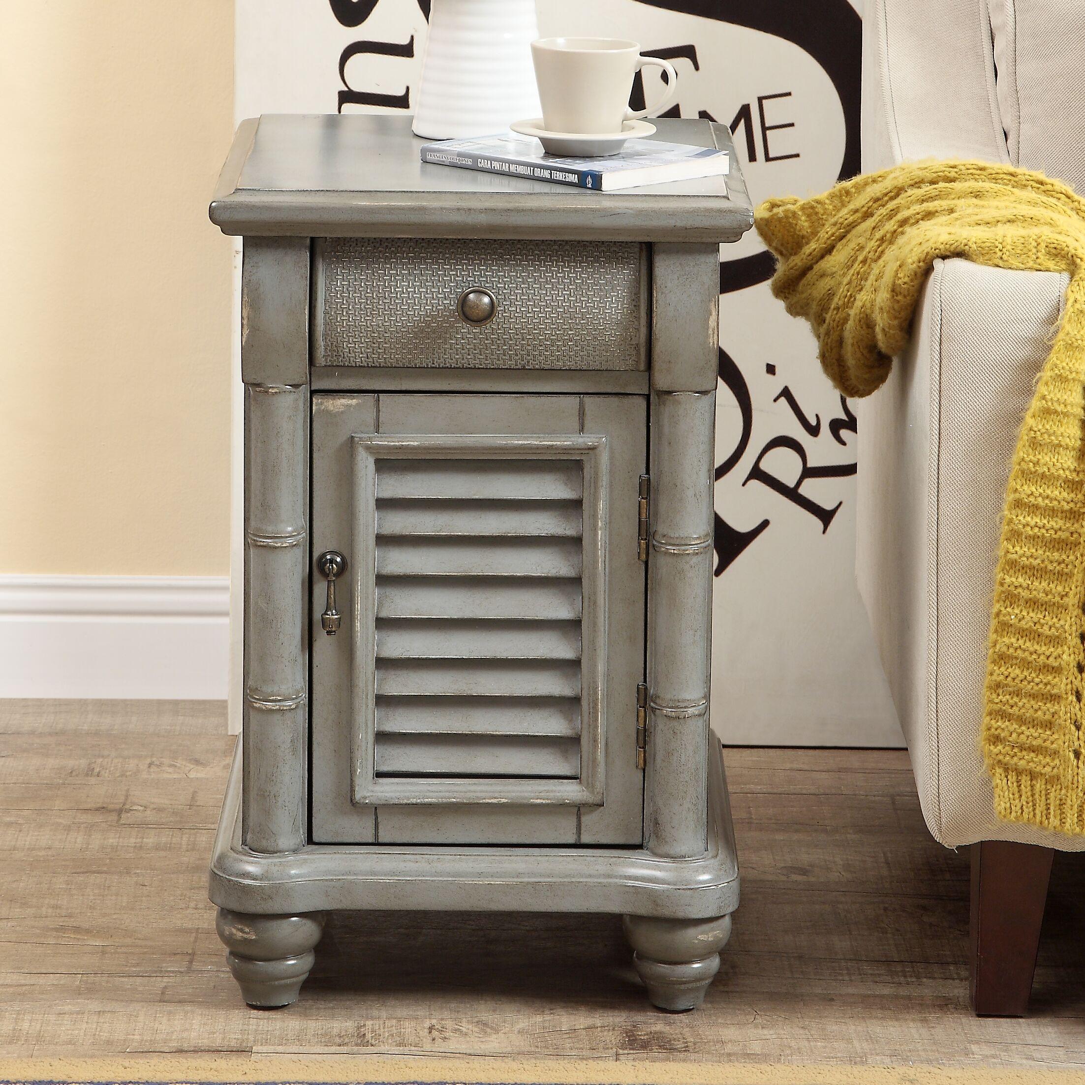 Nadler 1 Door 1 Drawer End Table Color: Gray