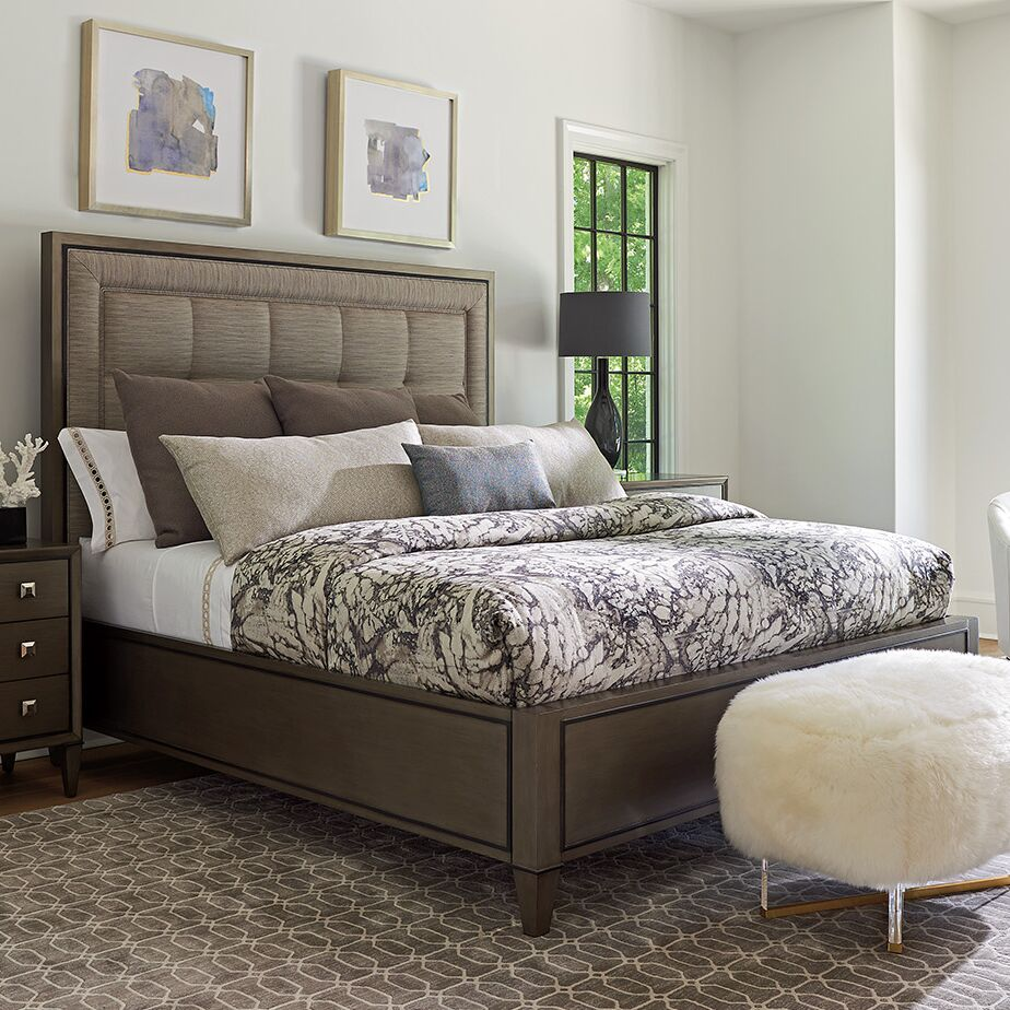 Ariana St Tropez Upholstered Panel Bed Size: King