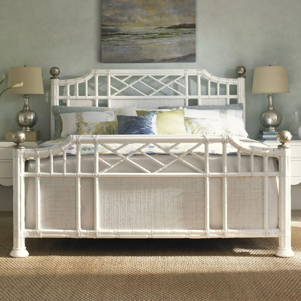Ivory Key Panel Bed Size: King