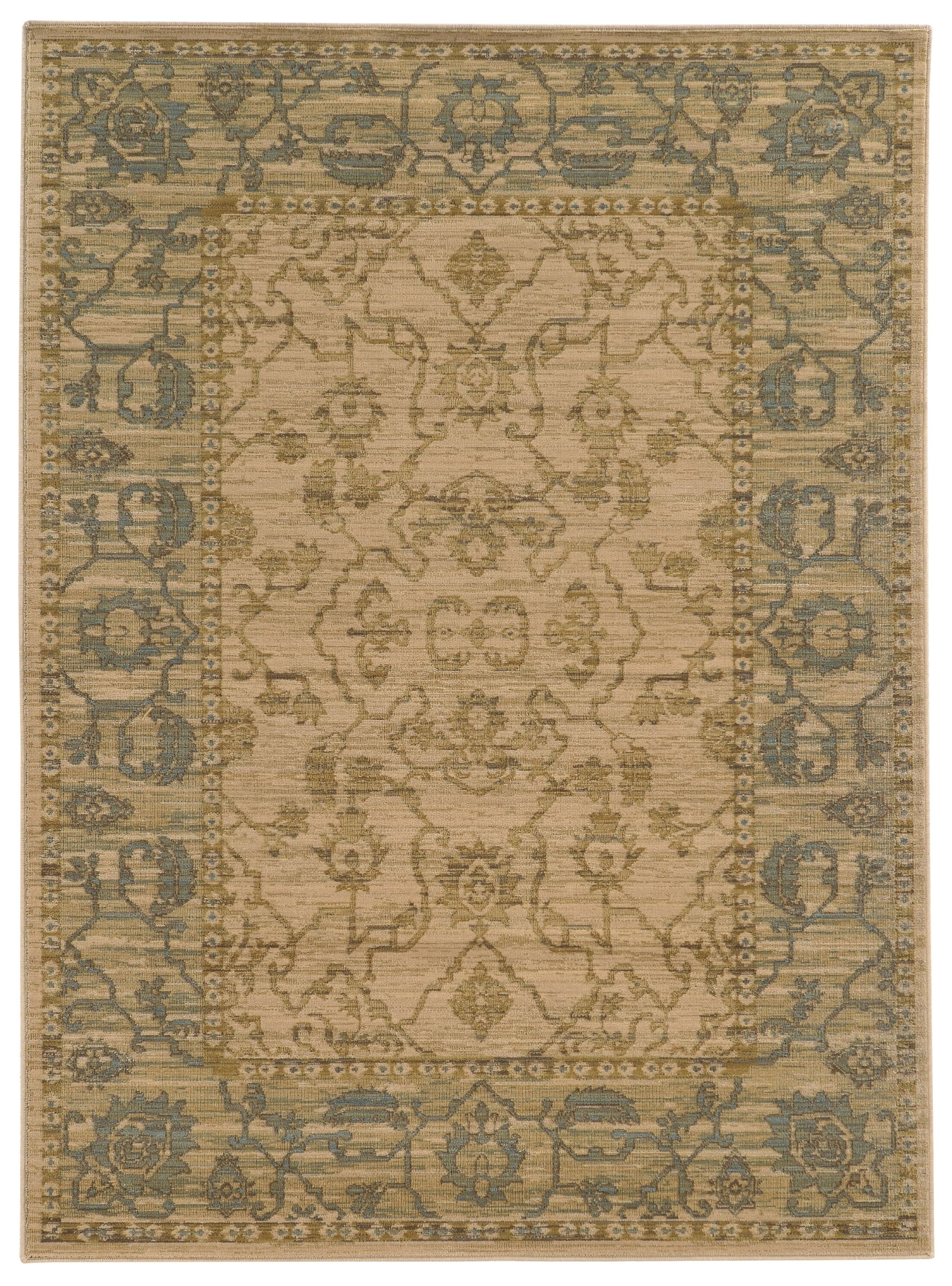 Tommy Bahama Vintage Beige / Blue Oriental Rug Rug Size: Rectangle 1'10