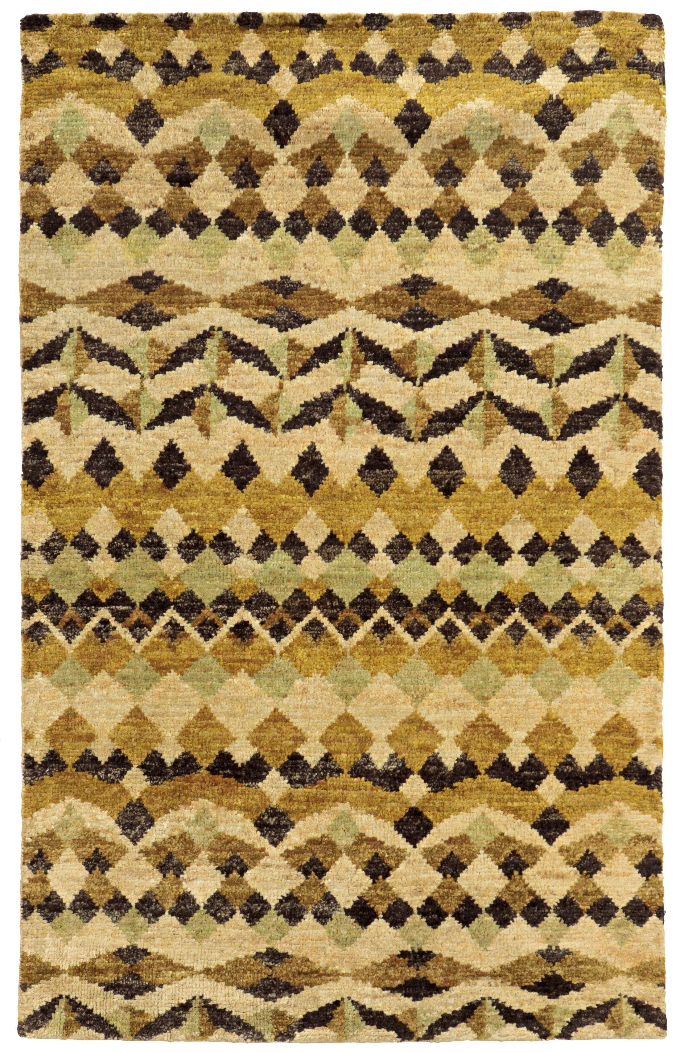 Tommy Bahama Ansley Beige / Gold Geometric Rug Rug Size: Rectangle 10' x 13'
