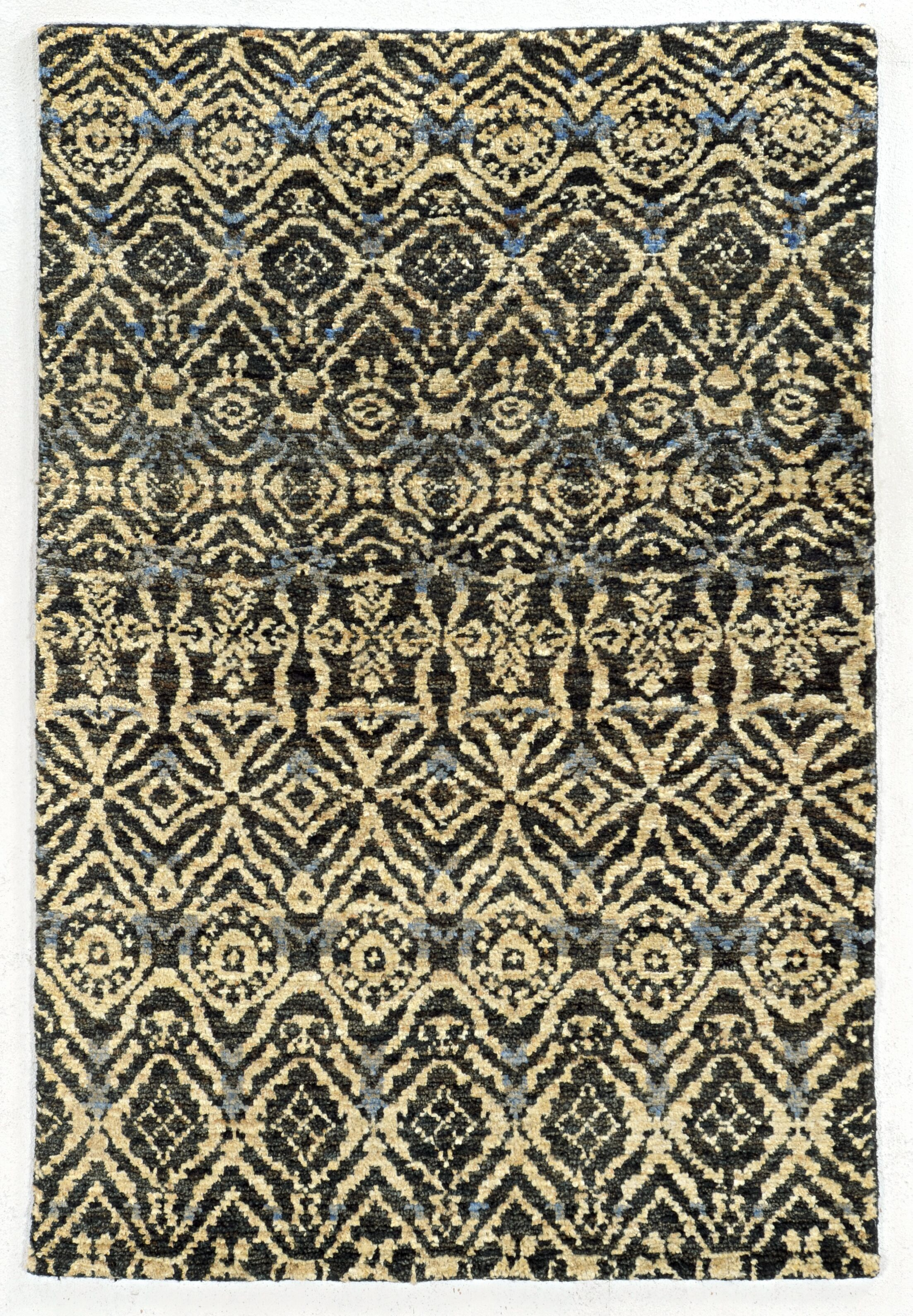 Tommy Bahama Ansley Black / Beige Geometric Rug Rug Size: Rectangle 3'6