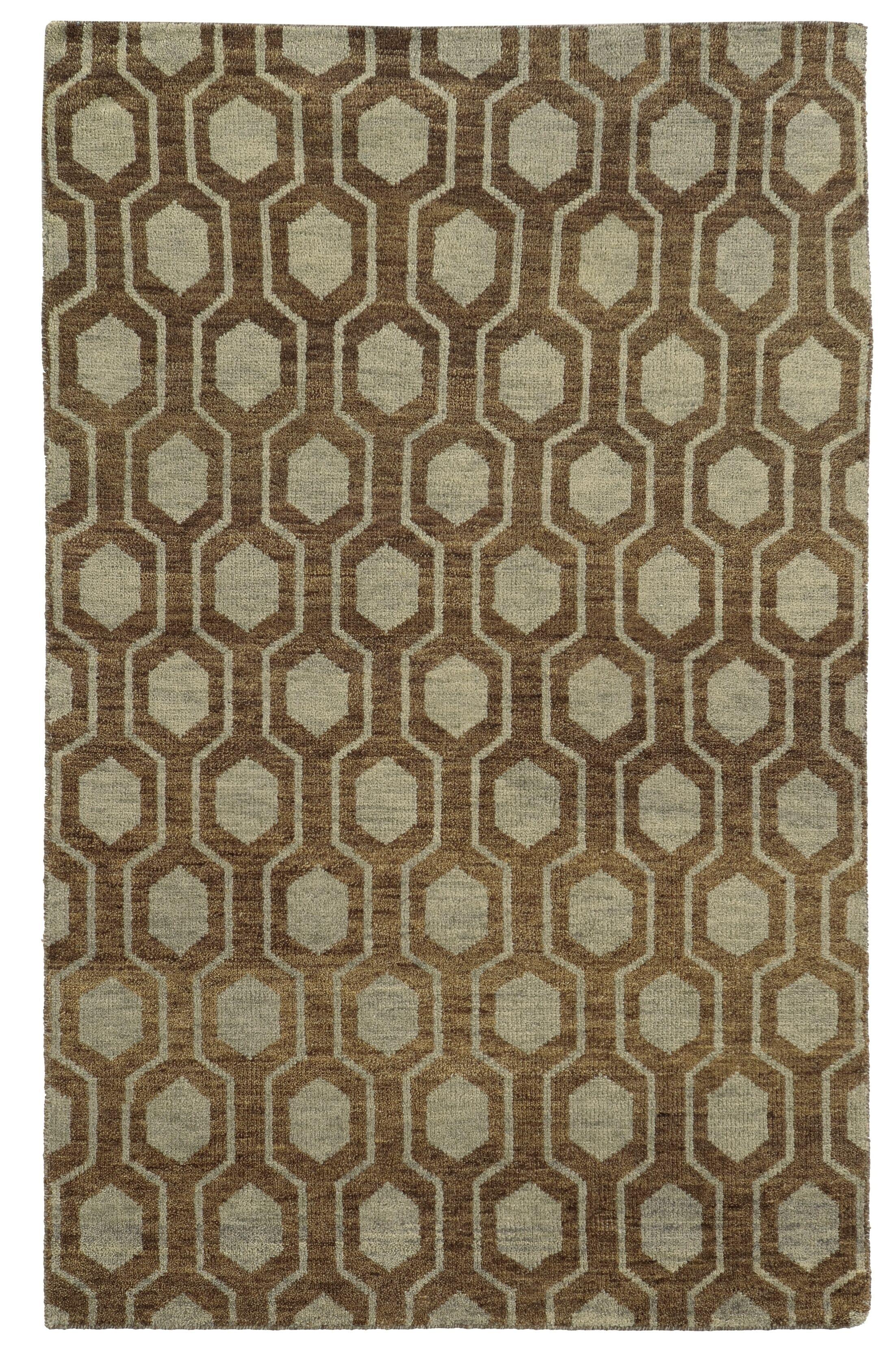 Tommy Bahama Maddox Brown / Blue Geometric Rug Rug Size: Rectangle 10' x 13'