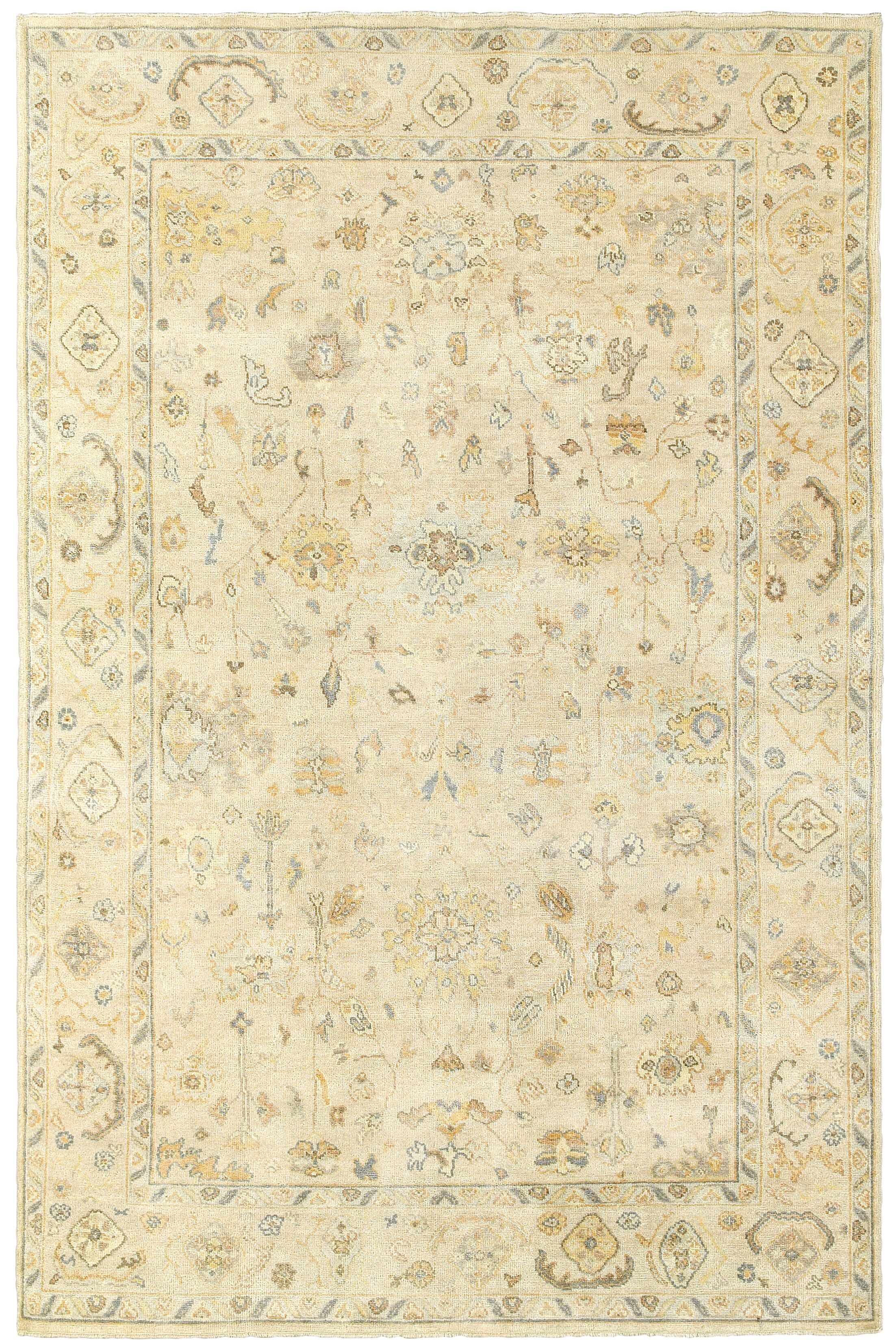Palace Hand-Knotted Beige Area Rug Rug Size: Rectangle 10' x 14'
