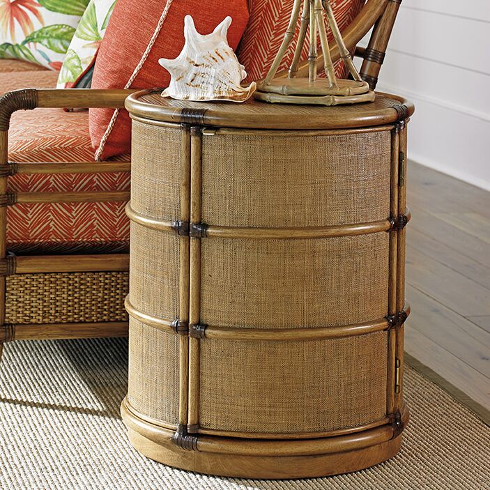Twin Palms End Table with Storage