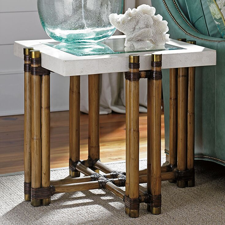 Twin Palms End Table
