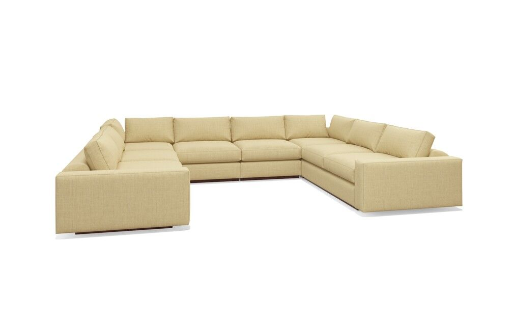 Jackson Sectional Body Fabric: Marlow Red, Frame Color: Honey