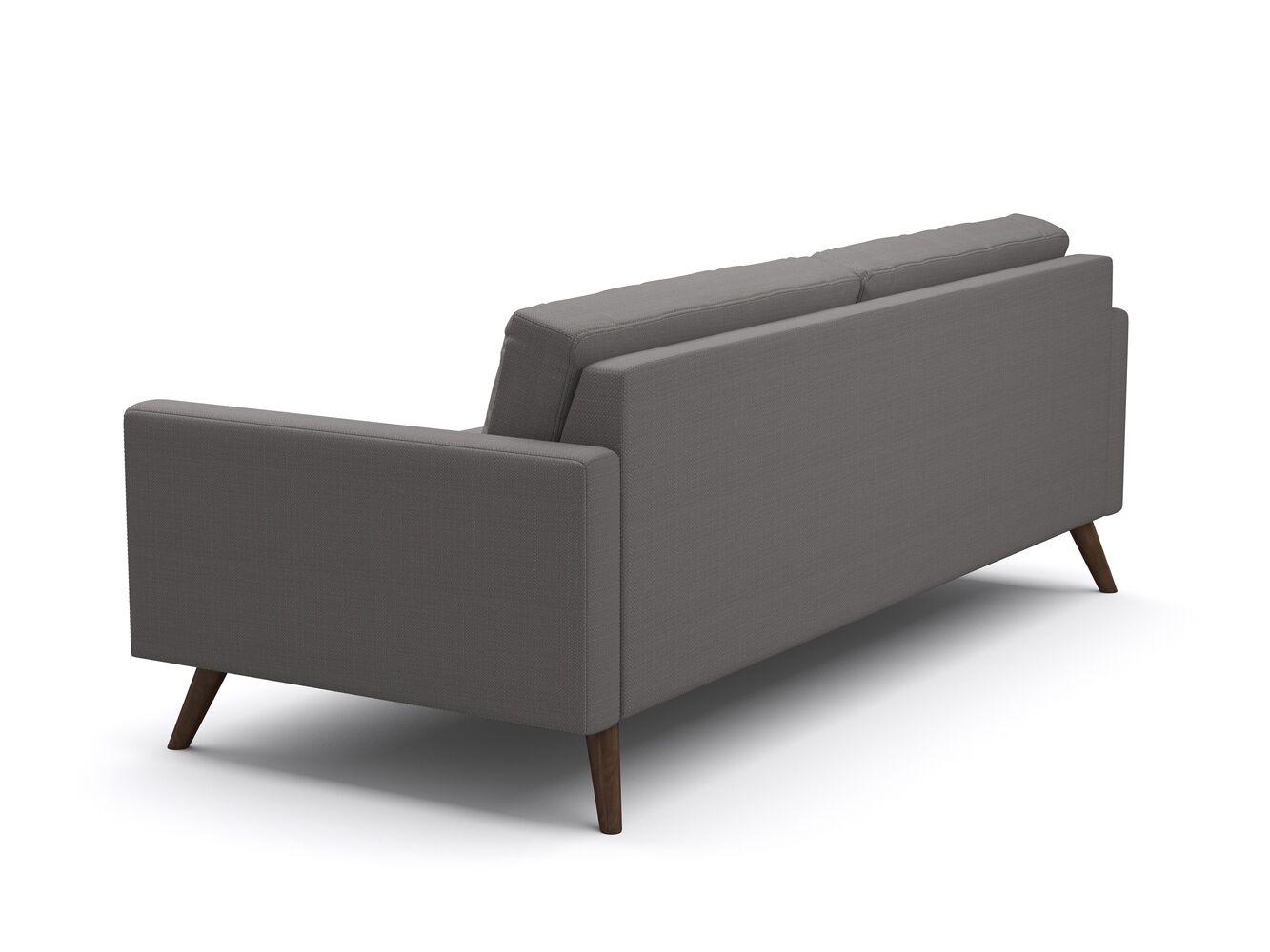 Dane Reversible Sectional Leg Color: Espresso, Body Fabric: Klein Laguna