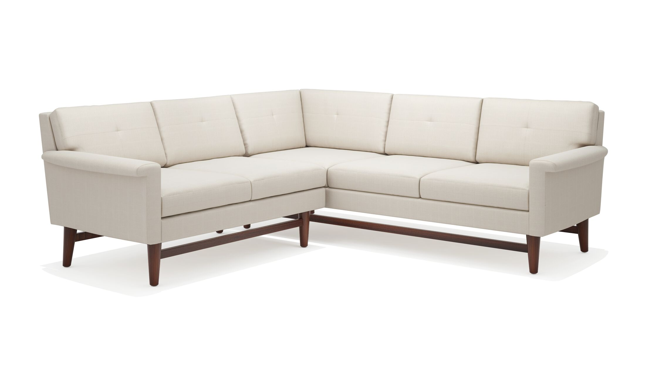 Diggity Corner Sectional Sofa Body Fabric: Klein Chocolate, Leg Color: Honey, Sectional Orientation: Left Hand Facing