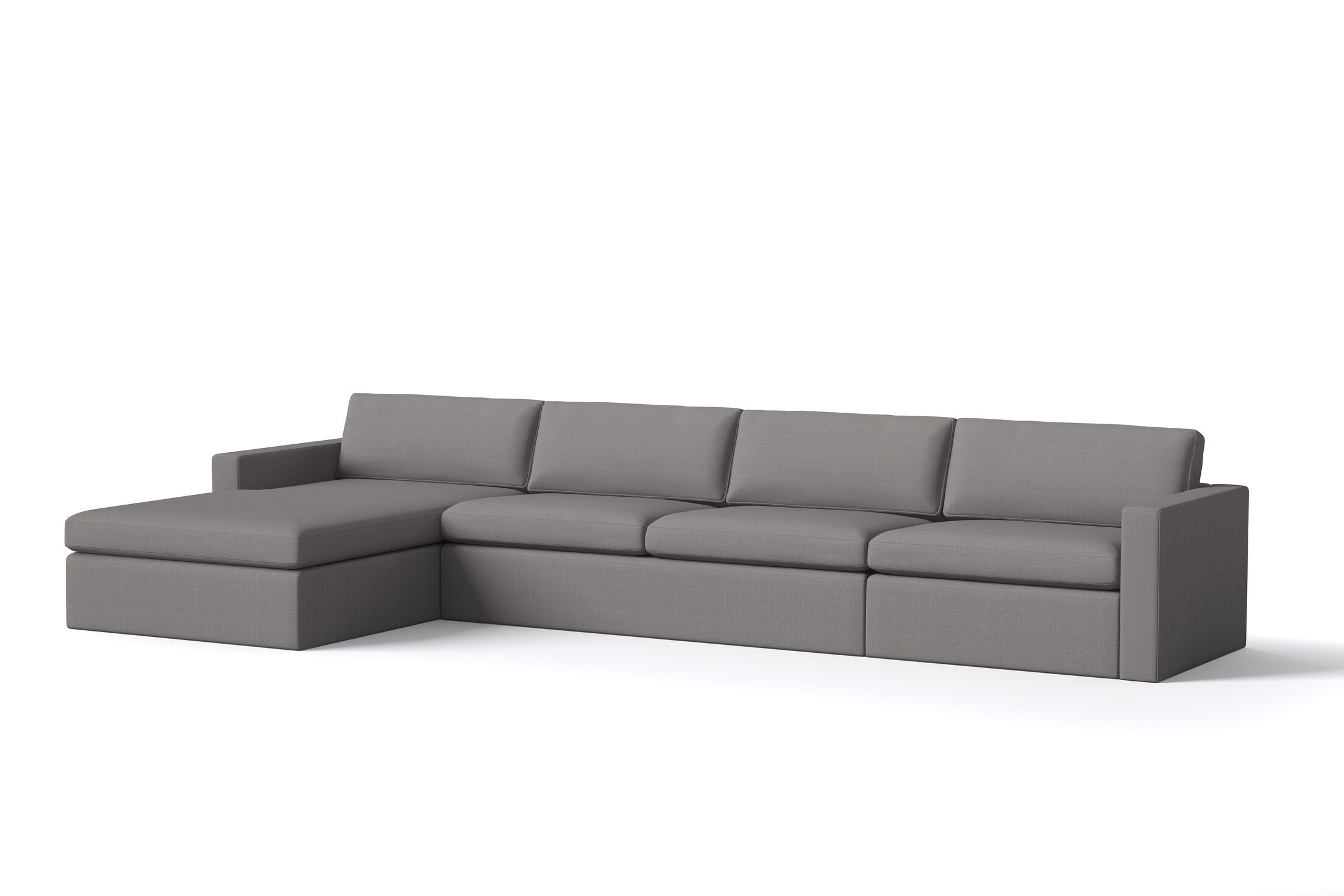 Marfa Sofa with Chaise Body Fabric: Klein Charcoal, Sectional Orientation: Left Hand Facing