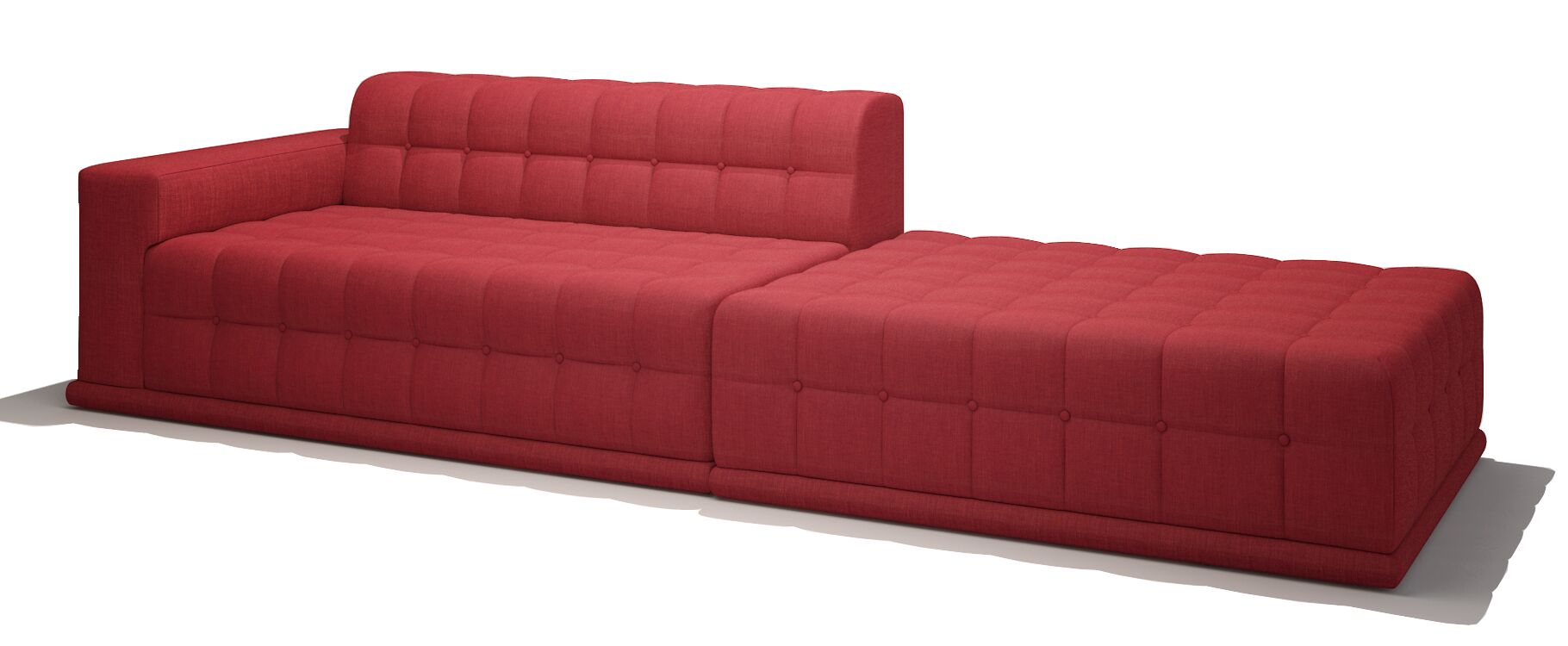 Bump Bump One Arm Sectional Sectional Orientation: Left Hand Facing, Body Fabric: Marlow Toast