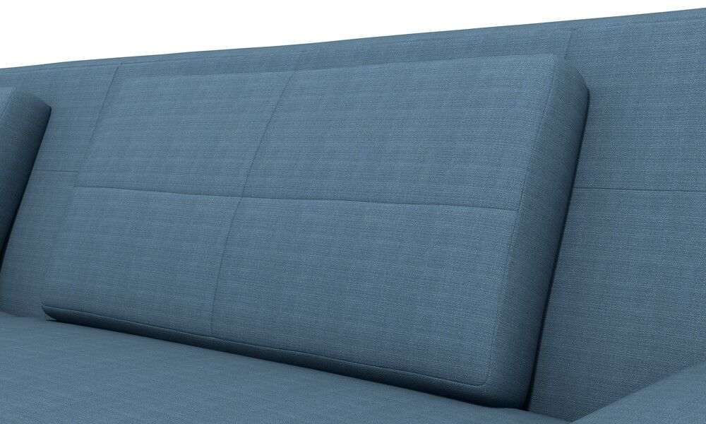 Hamlin Sectional Orientation: Left Hand Facing, Body Fabric: Klein Azure