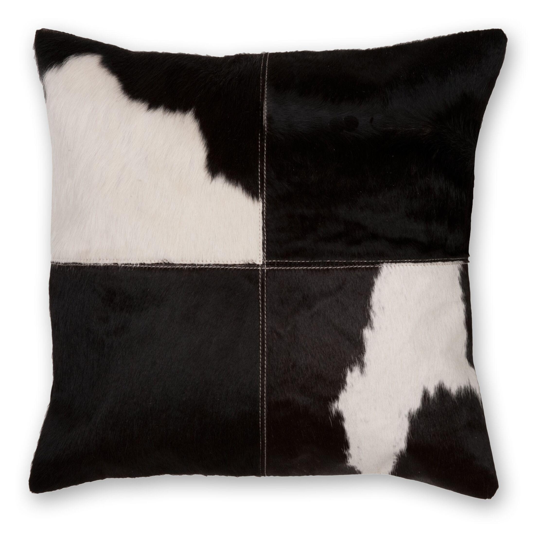 Phantom Hairon Leather Throw Pillow