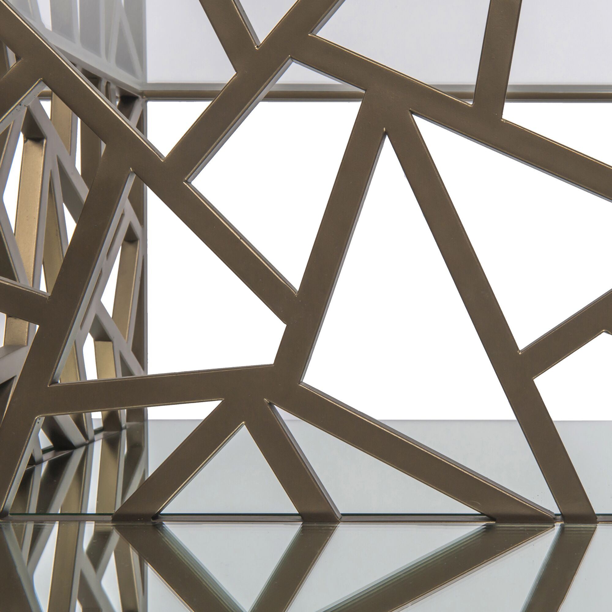 Cracked Ice Coffee Table Color: Gilt Medium Bronze, Bottom Shelf Color: Mirror