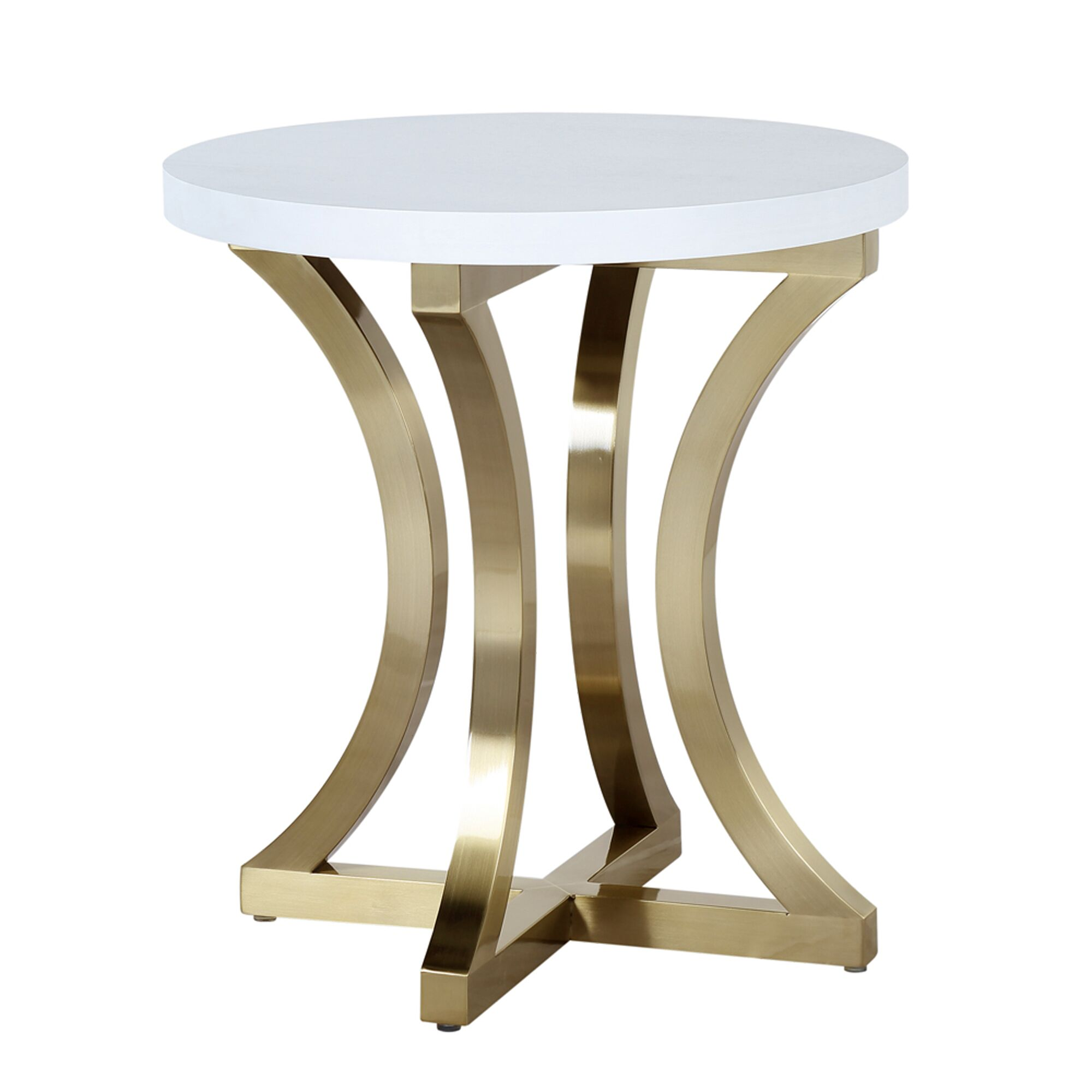 Iris End Table Color: Chalk White