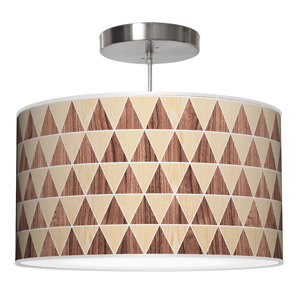 Triangle 2 Drum Pendant Shade Color: Oak / Walnut, Size: 9
