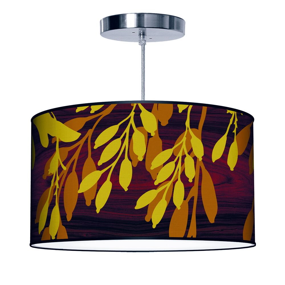 Features: -Linen bottom diffuser.-Shade pattern: Pod.-5 feet silver braided cord.-UL listed and hard wired.-Organic Modern collection.-Metal canopy.-Made in the USA.-Fixture Design: Drum.-Number of Lights (Size: Large): 2.-Number of Lights (Size: Medi...