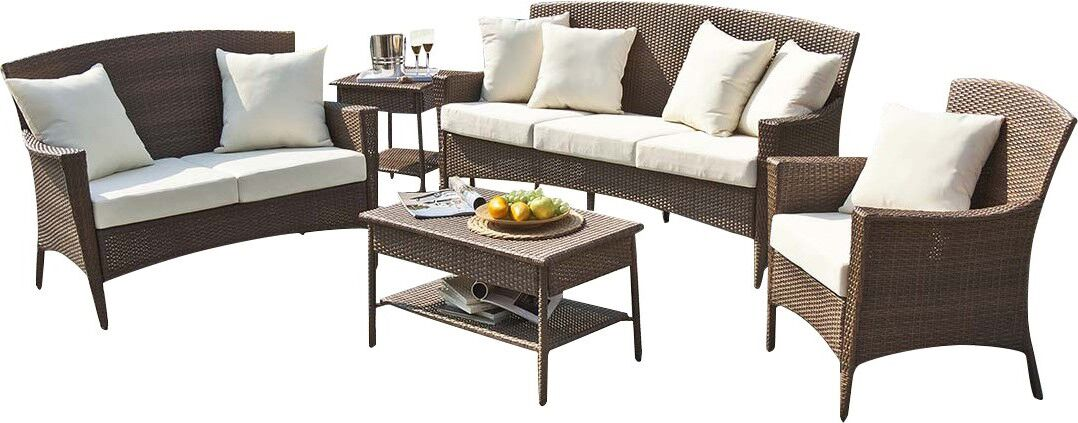 Key Biscayne Loveseat with Cushions Color: Harwood Peri
