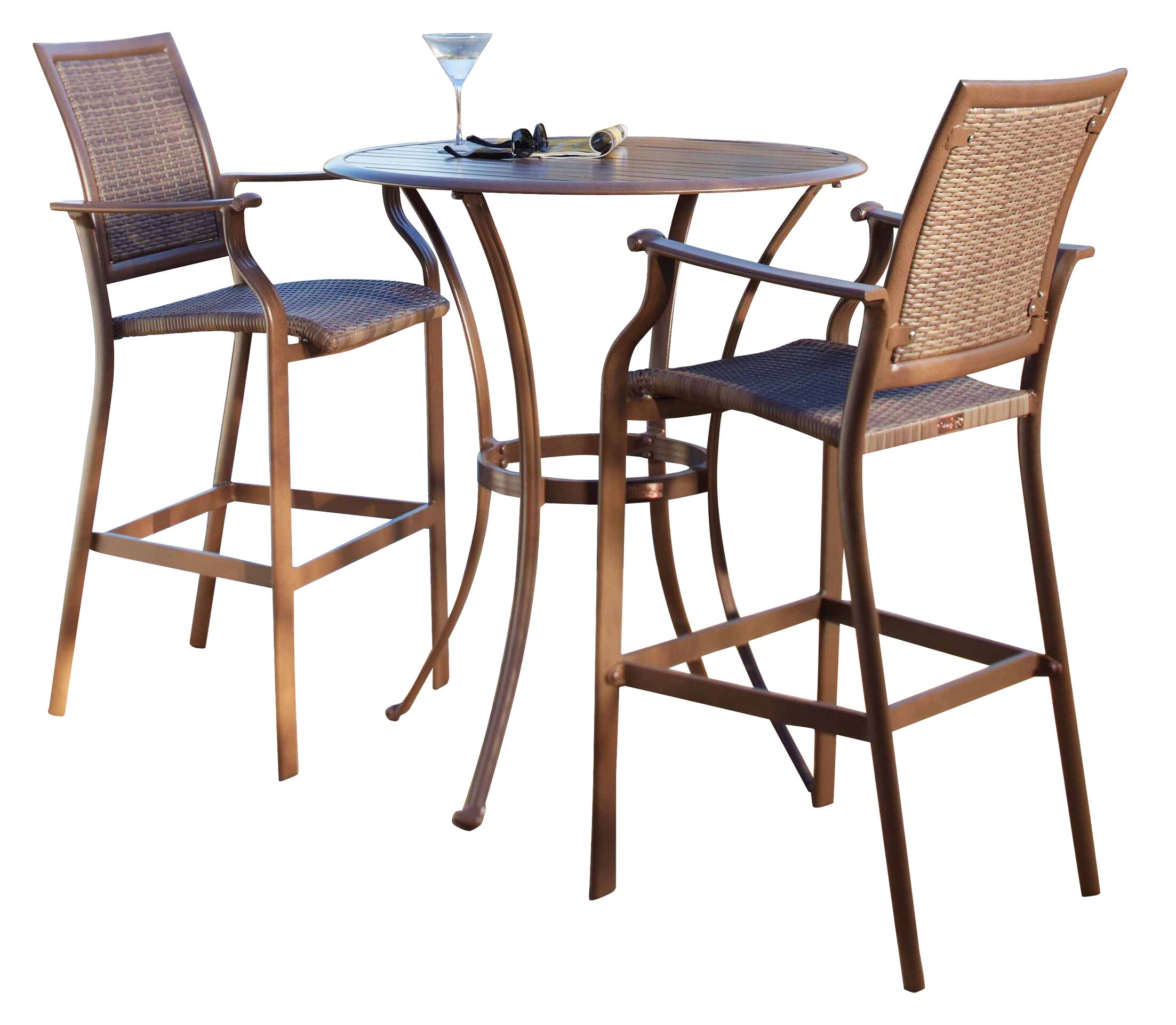 Island Cove 3 Piece Bar Height Dining Set