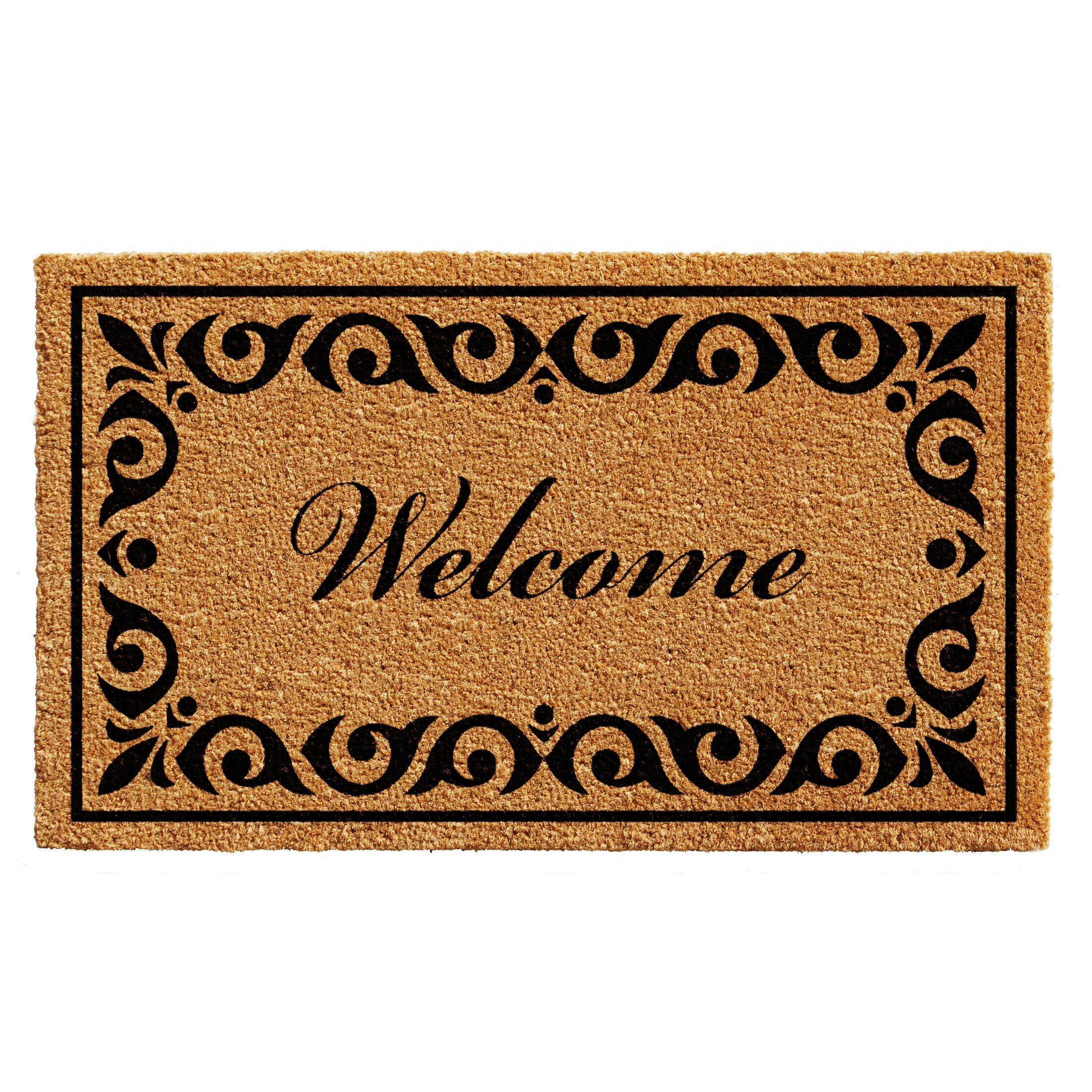 Lindemann Welcome Doormat Mat Size: Rectangle 3' x 6'