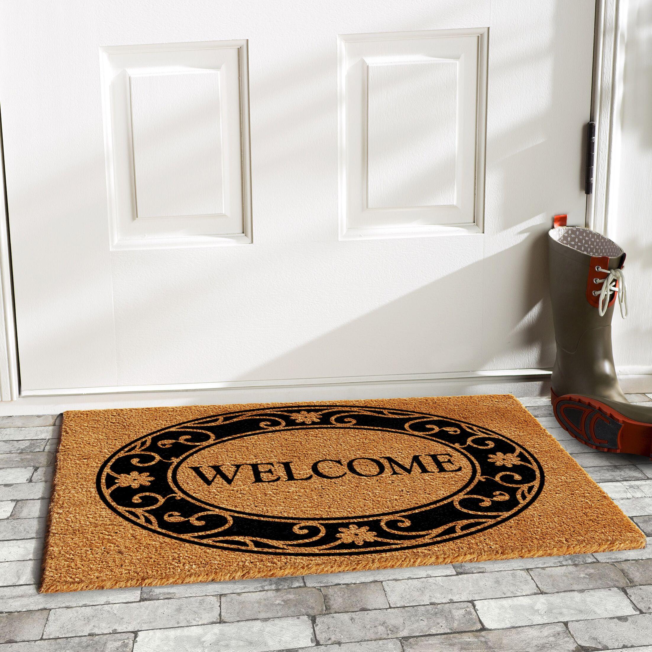 Hobson Welcome Doormat Mat Size: Rectangle 3' x 6'