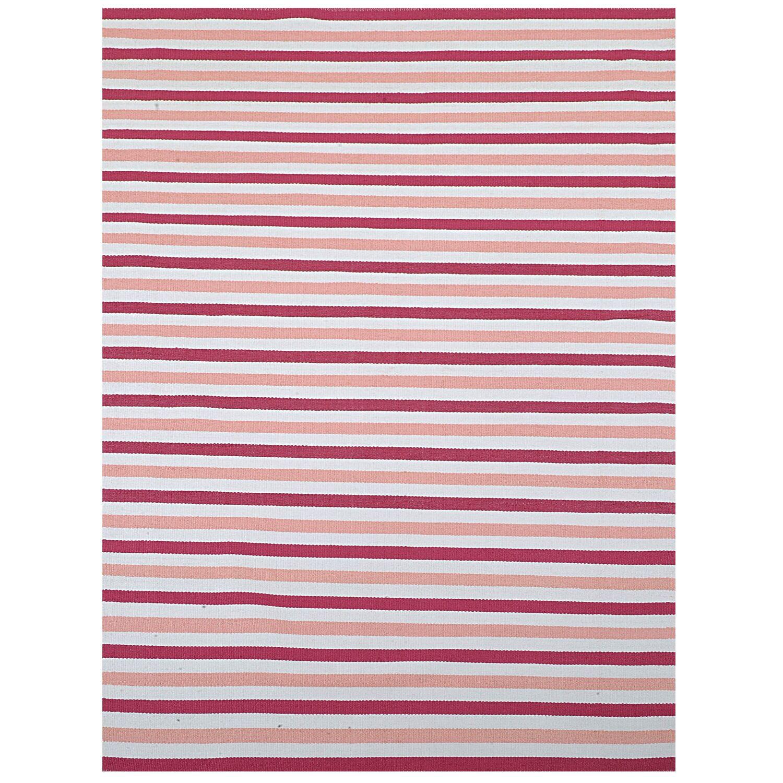Pink Stripe Indoor/Outdoor Area Rug Rug Size: 5' x 8'